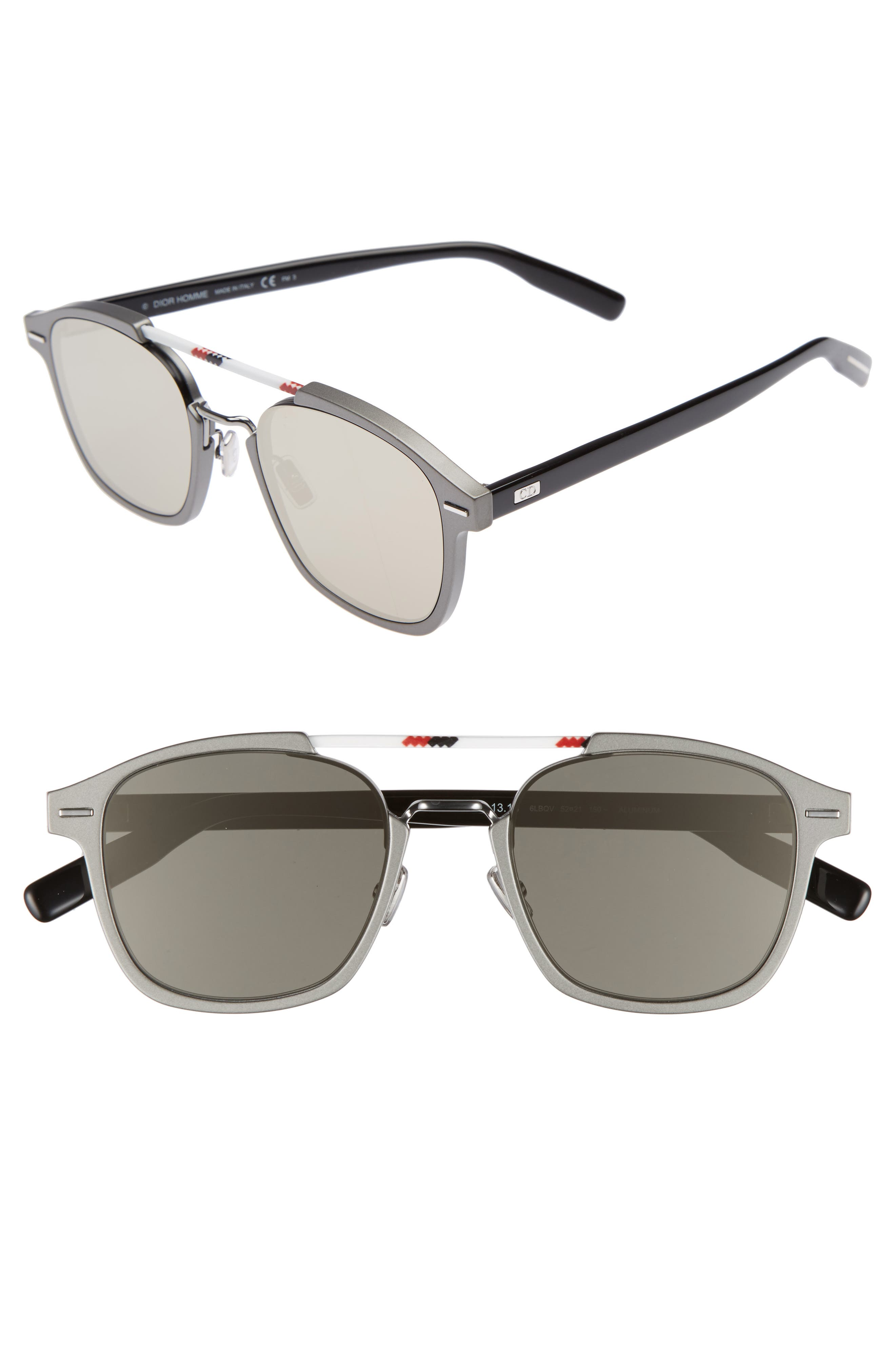 AL13.13 52mm Sunglasses,                             Main thumbnail 1, color,                             RUTHENIUM/ IVORY
