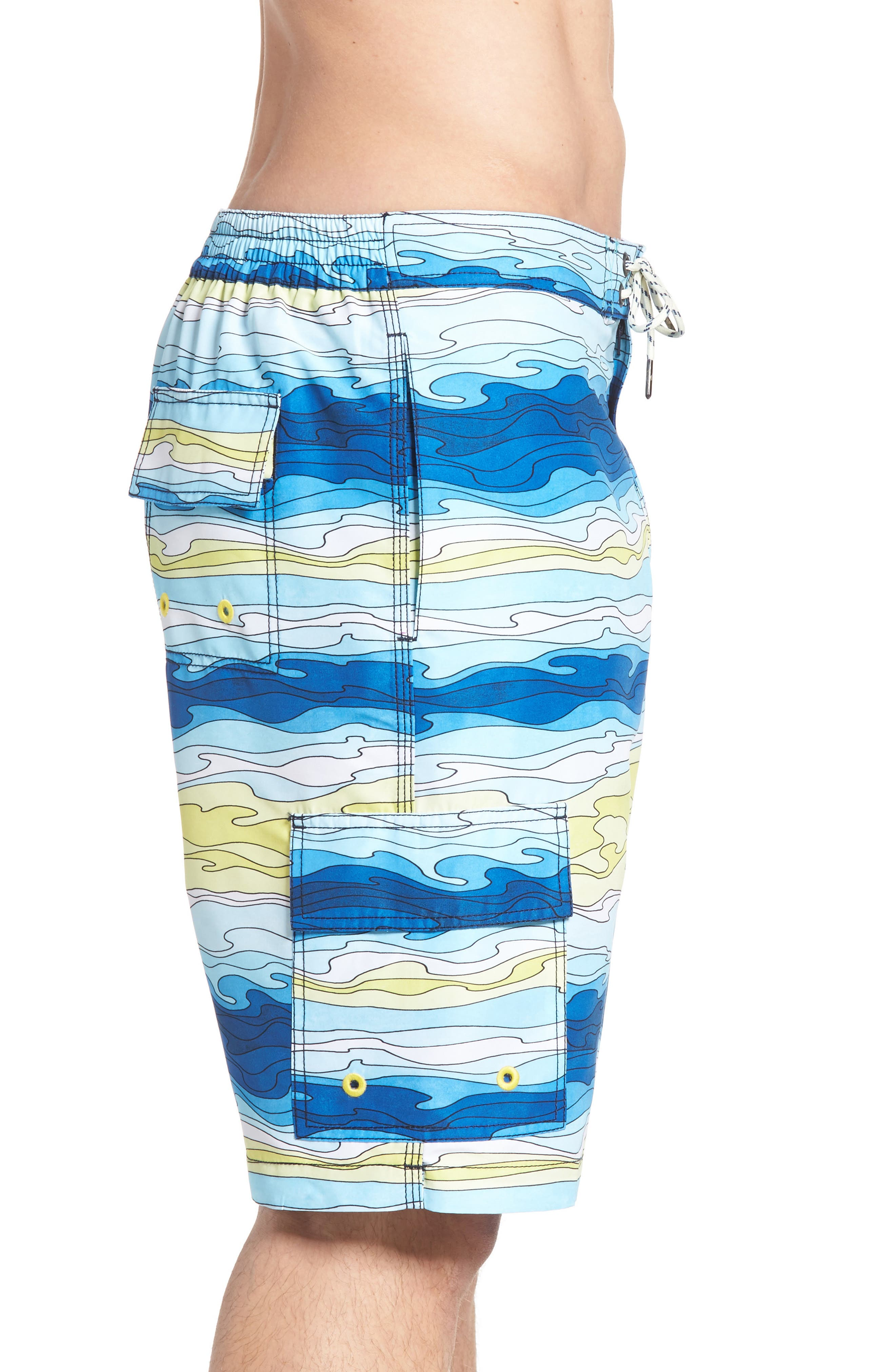 Baja Aegean Swim Trunks,                             Alternate thumbnail 3, color,                             400