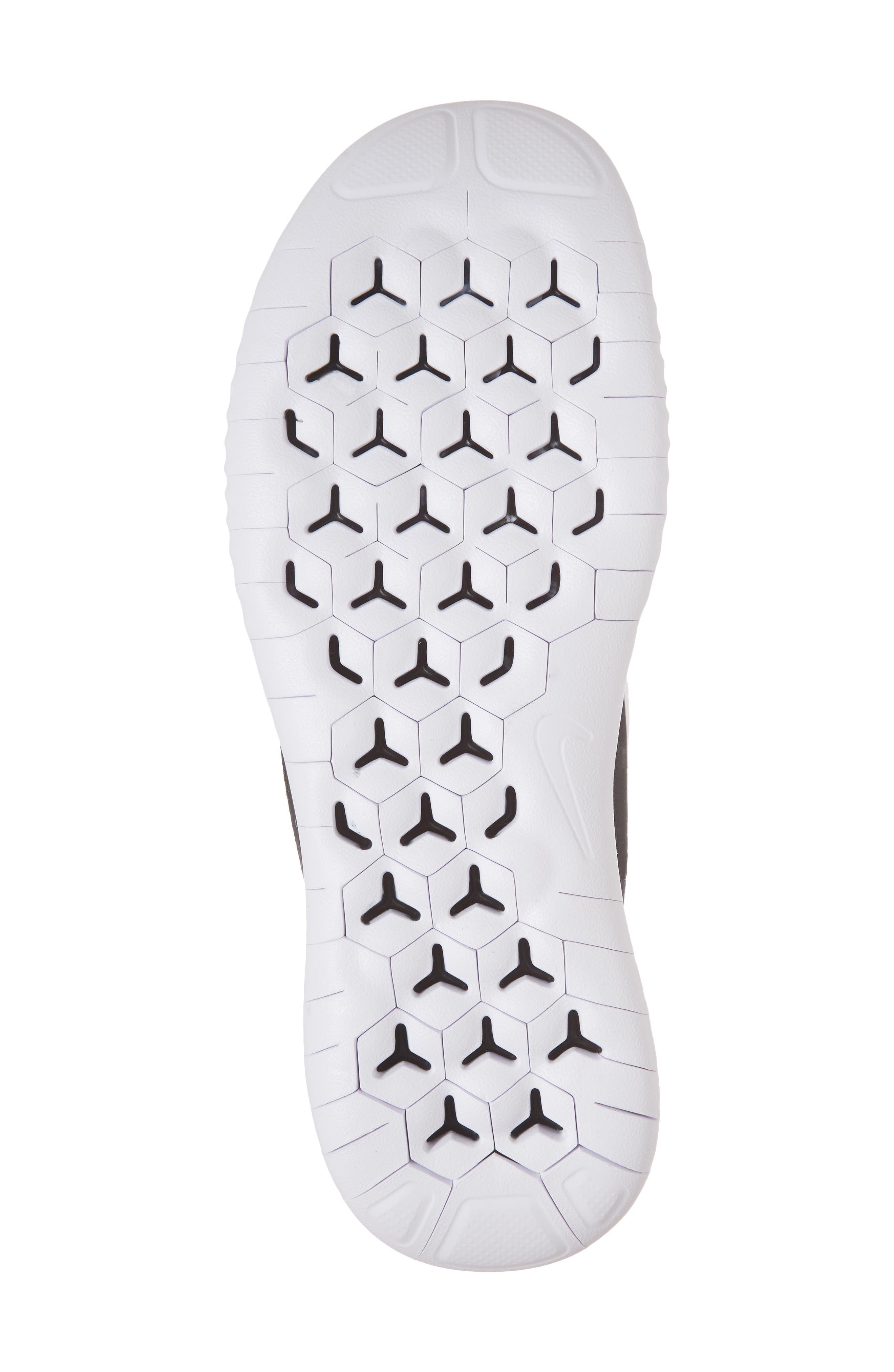 Free RN 2018 Running Shoe,                             Alternate thumbnail 6, color,                             BLACK/ WHITE