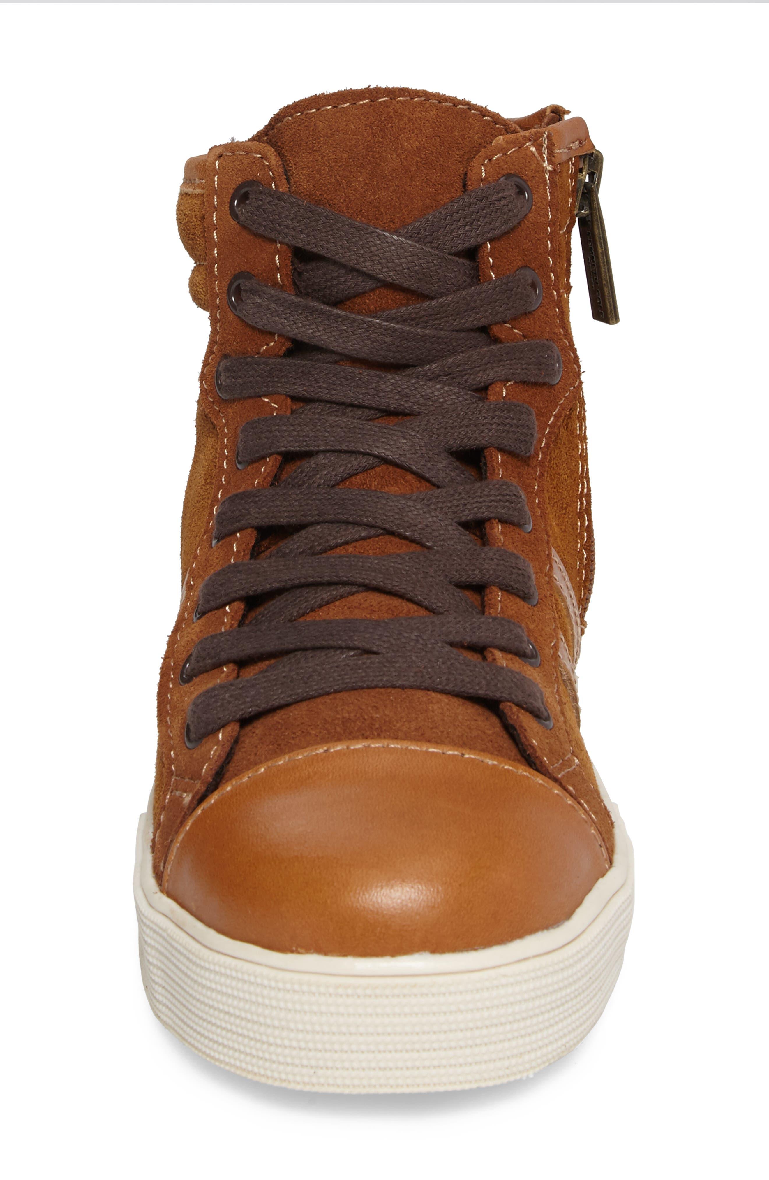 Jay Top High-Top Zip Sneaker,                             Alternate thumbnail 4, color,                             205