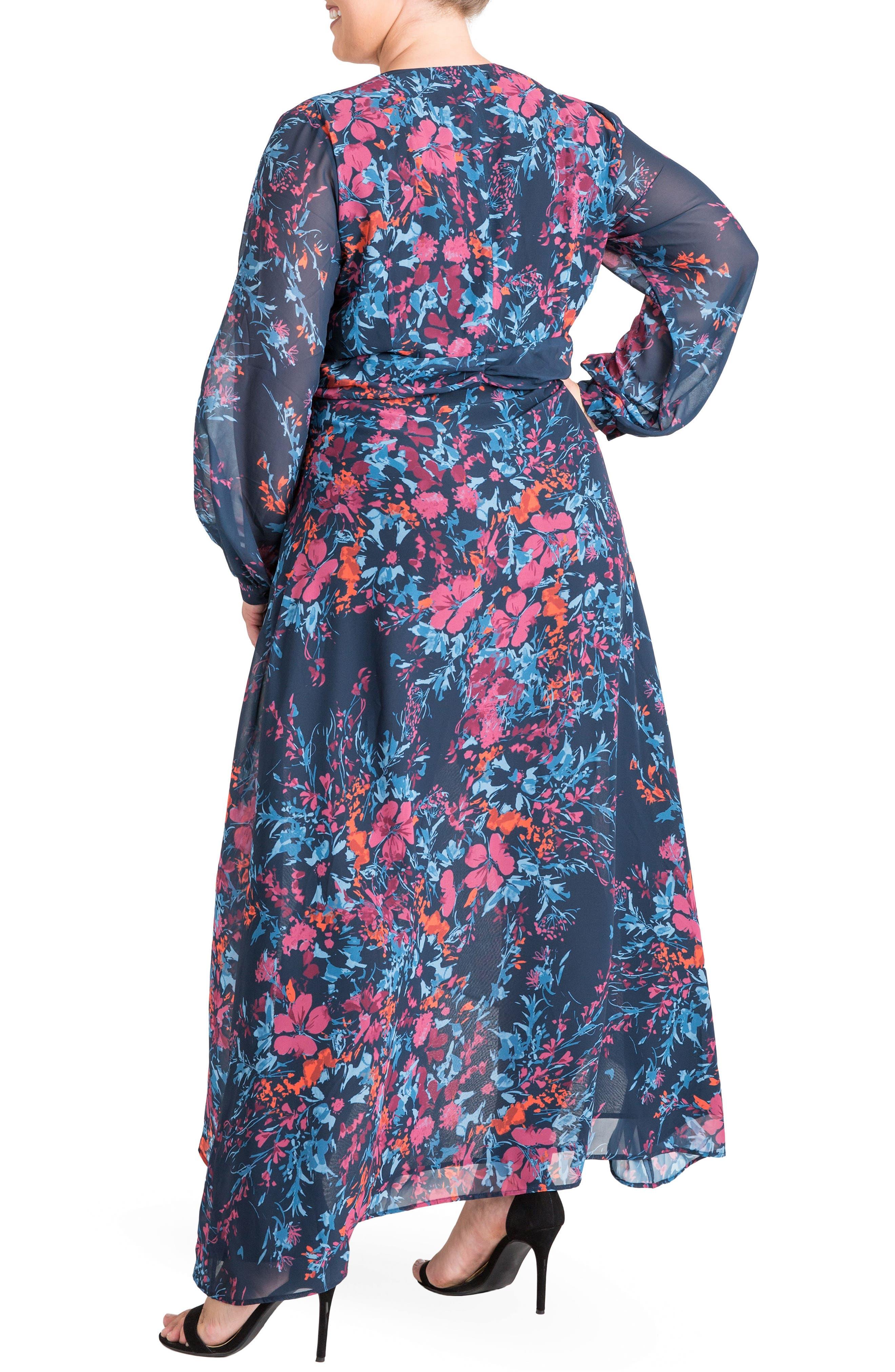 Floral Chiffon Maxi Dress,                             Alternate thumbnail 2, color,                             FLORAL PRINT