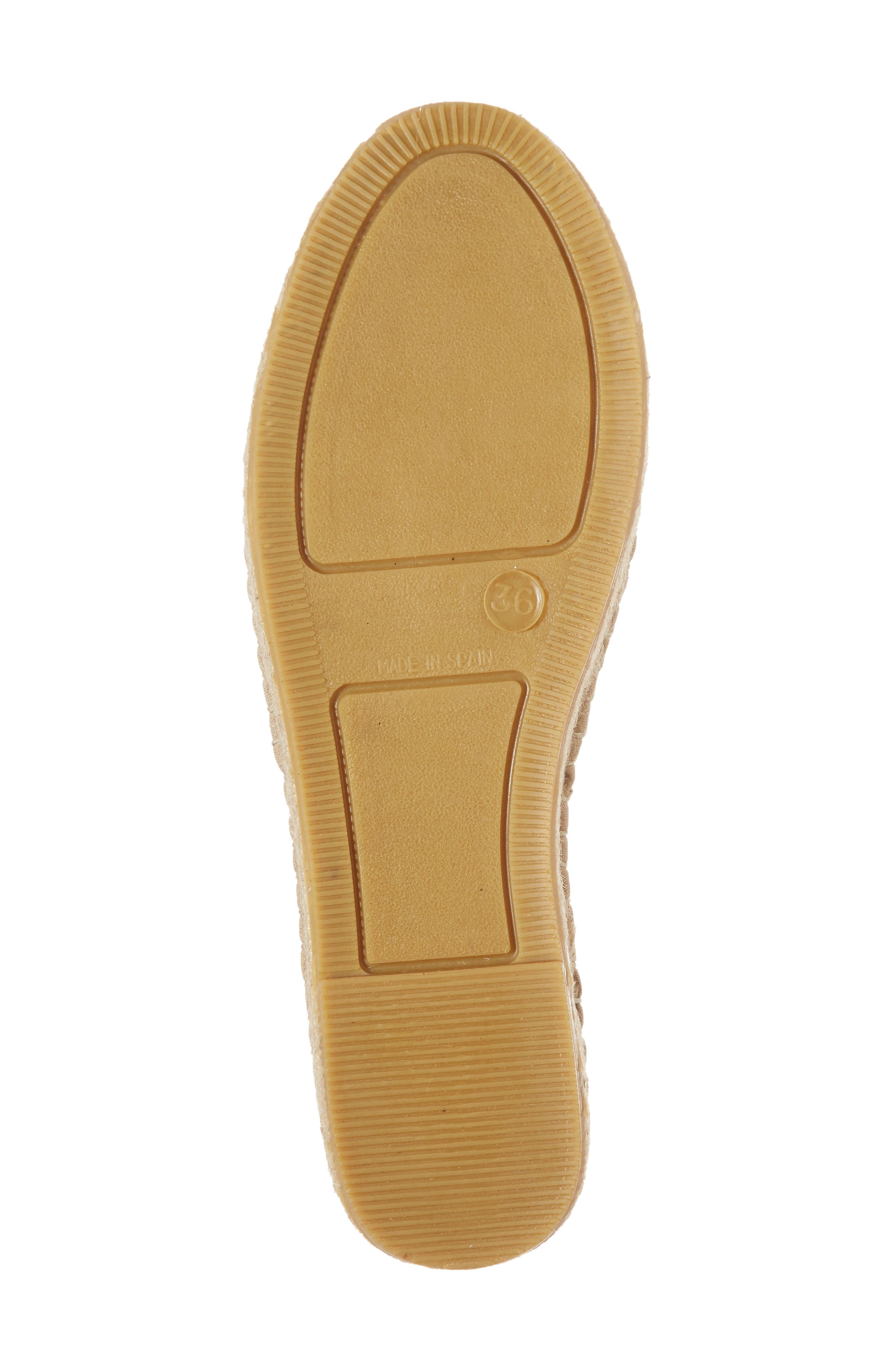 Florence Embroidered Platform Espadrille Sneaker,                             Alternate thumbnail 6, color,                             TOBACCO FABRIC