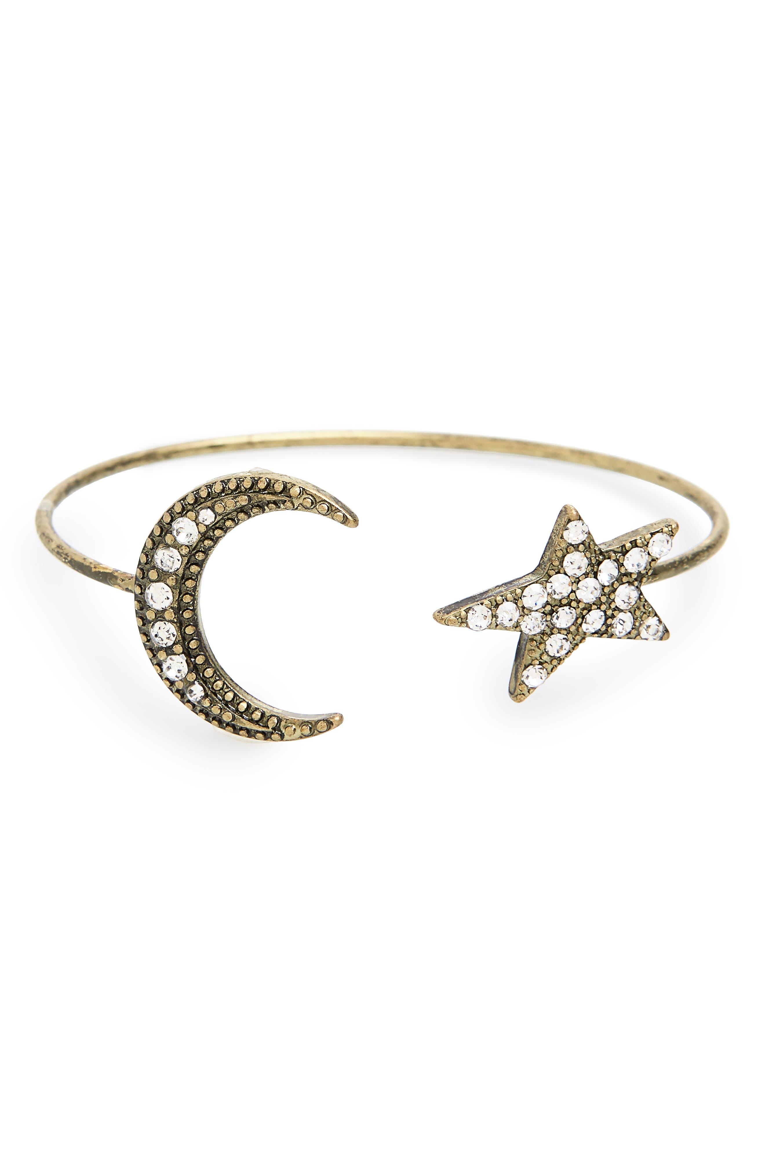 Star & Moon Crystal Cuff,                             Main thumbnail 1, color,                             040