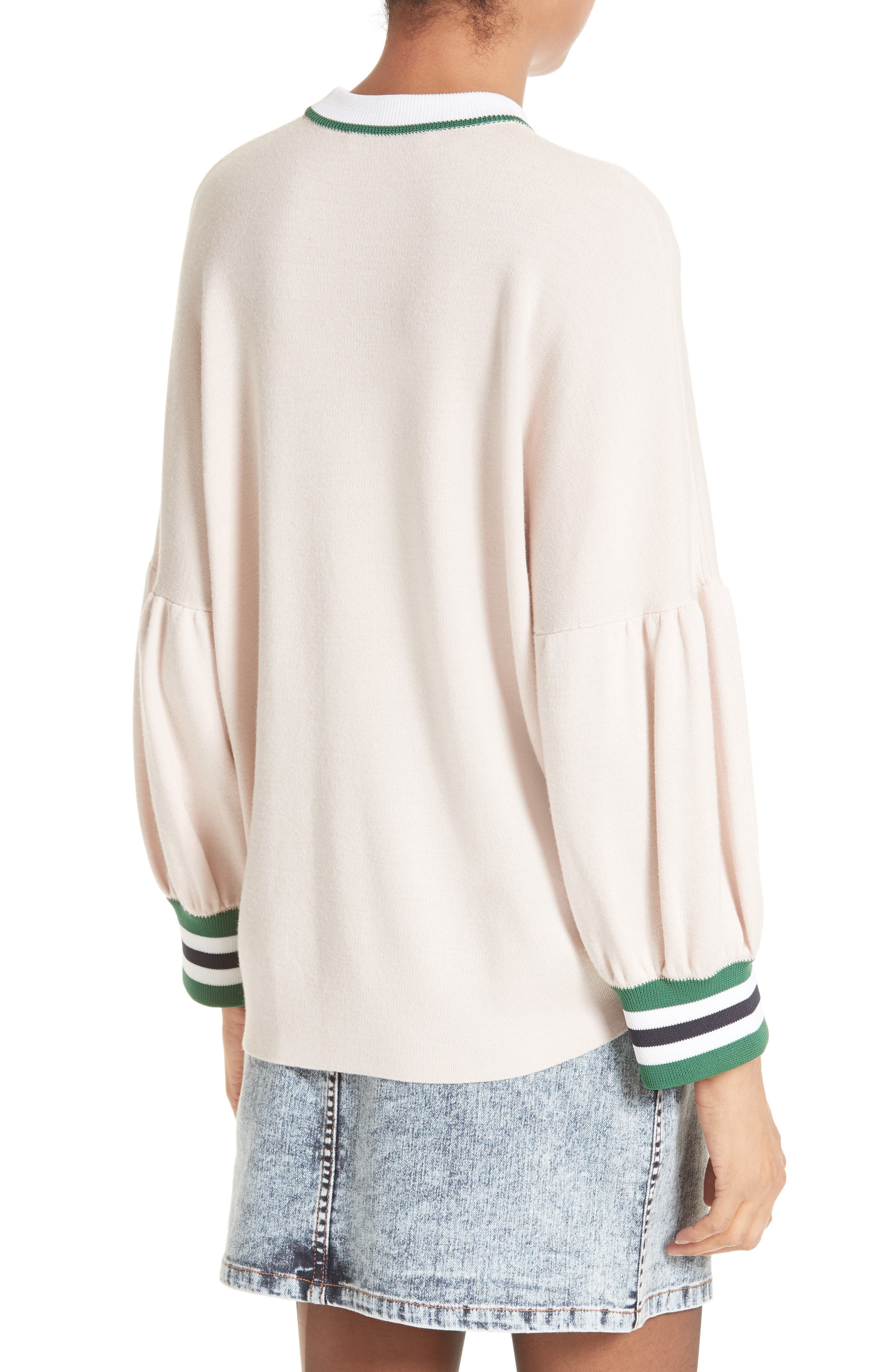 Wool Puff Sleeve Pullover,                             Alternate thumbnail 4, color,