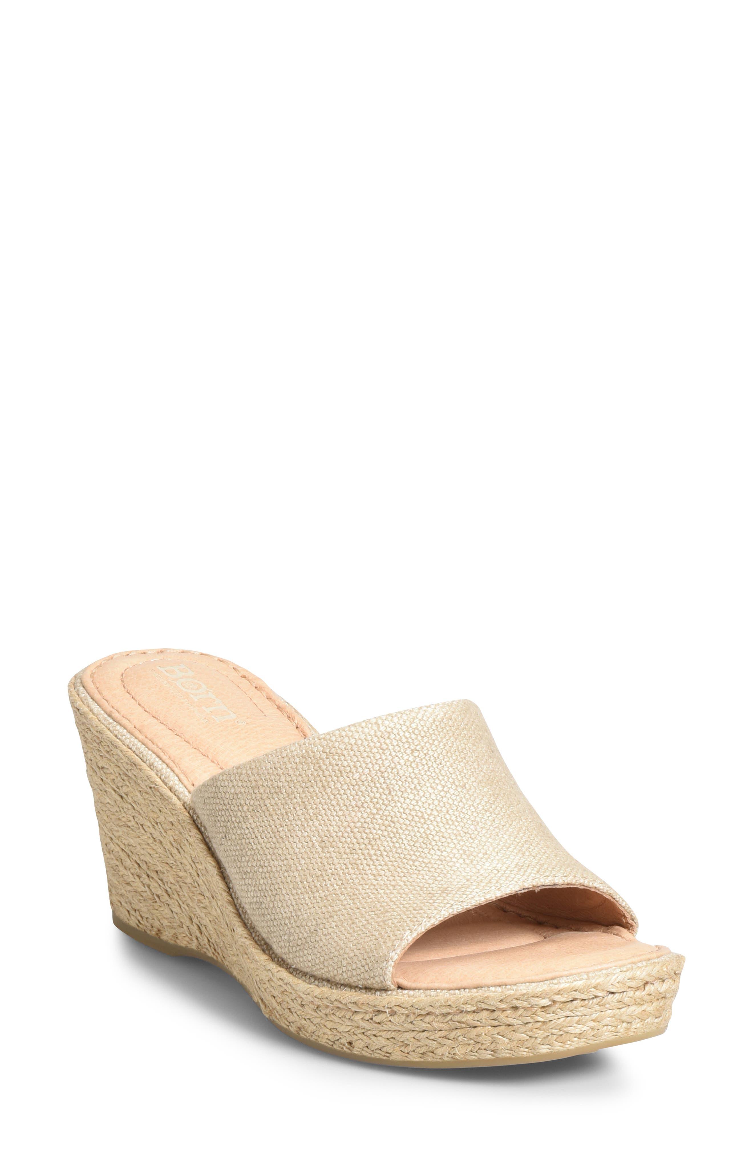 B?rn Missoula Wedge Sandal, Beige