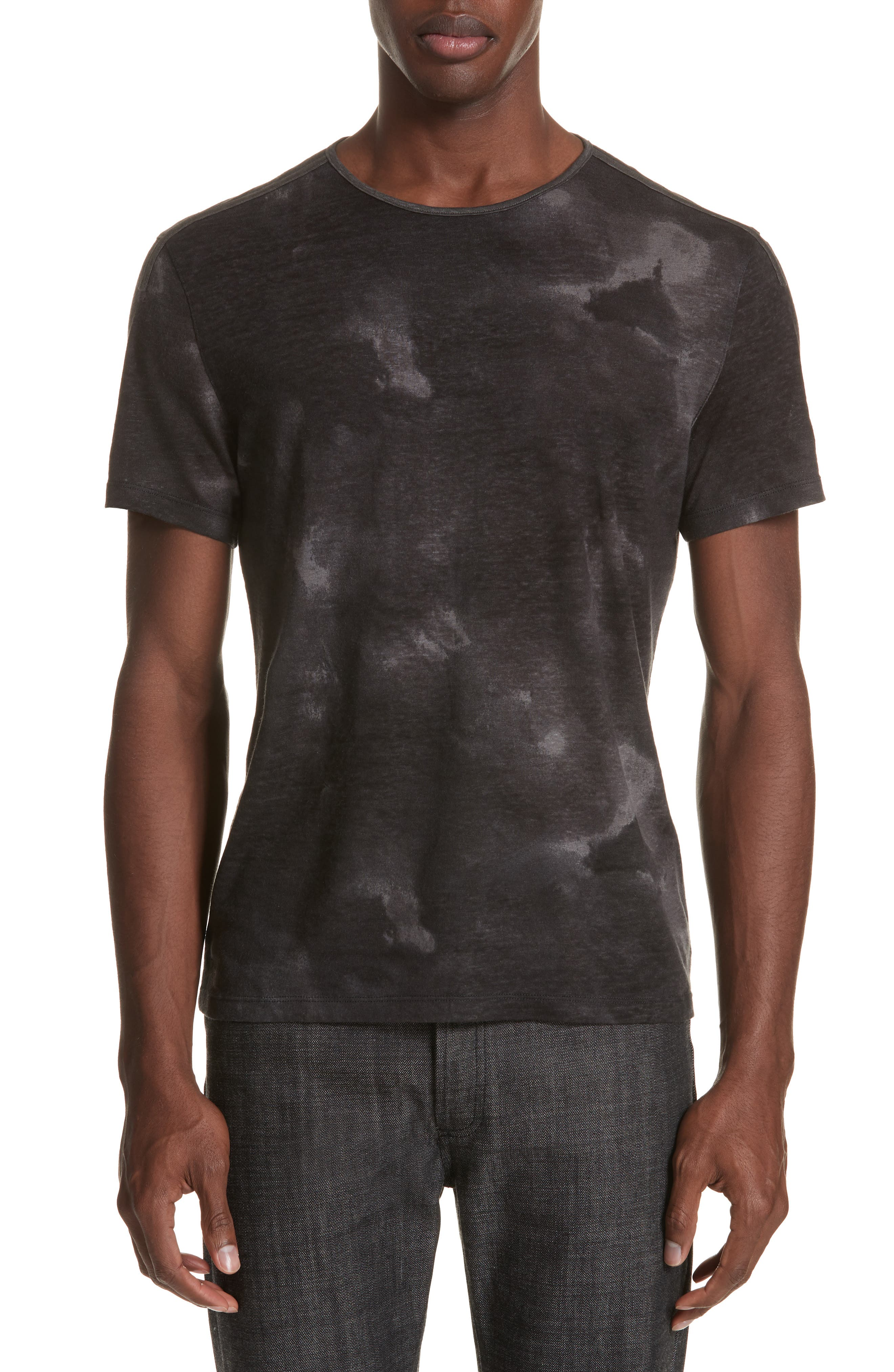 Tie Dye T-Shirt,                         Main,                         color, DARK GREY
