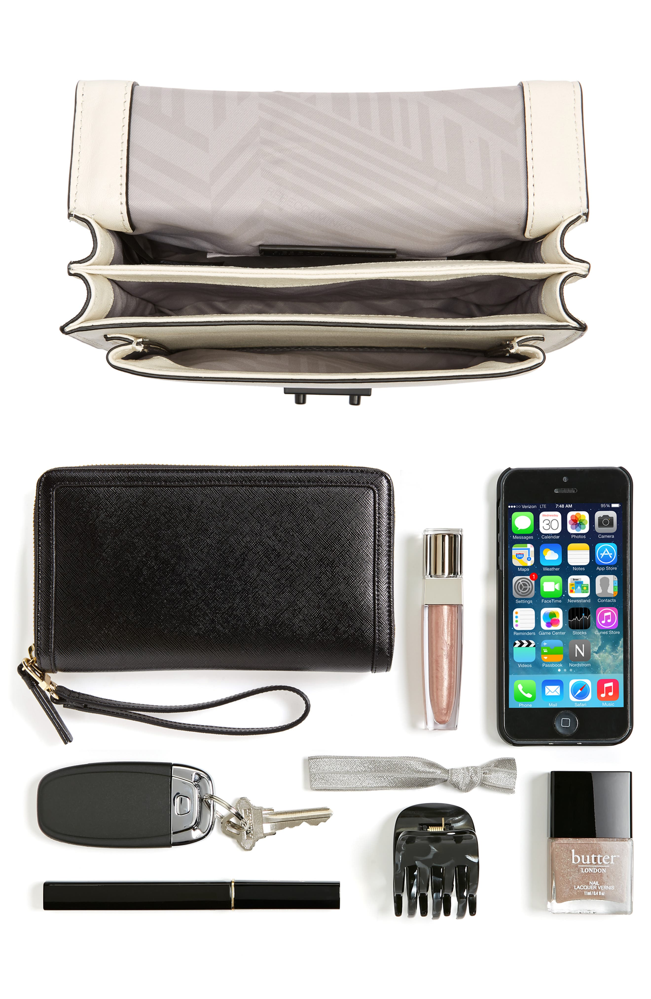 Medium Christy Leather Shoulder Bag,                             Alternate thumbnail 31, color,