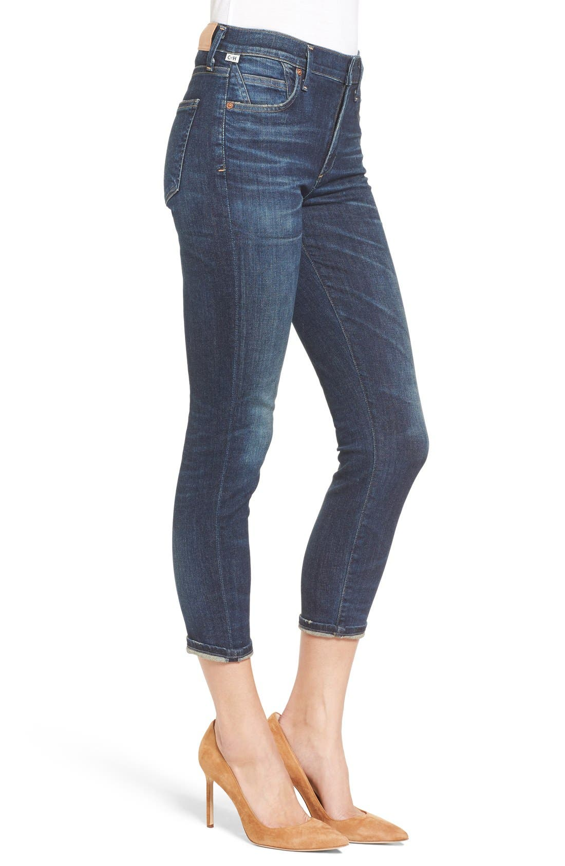 Rocket High Waist Crop Skinny Jeans,                             Alternate thumbnail 2, color,                             410