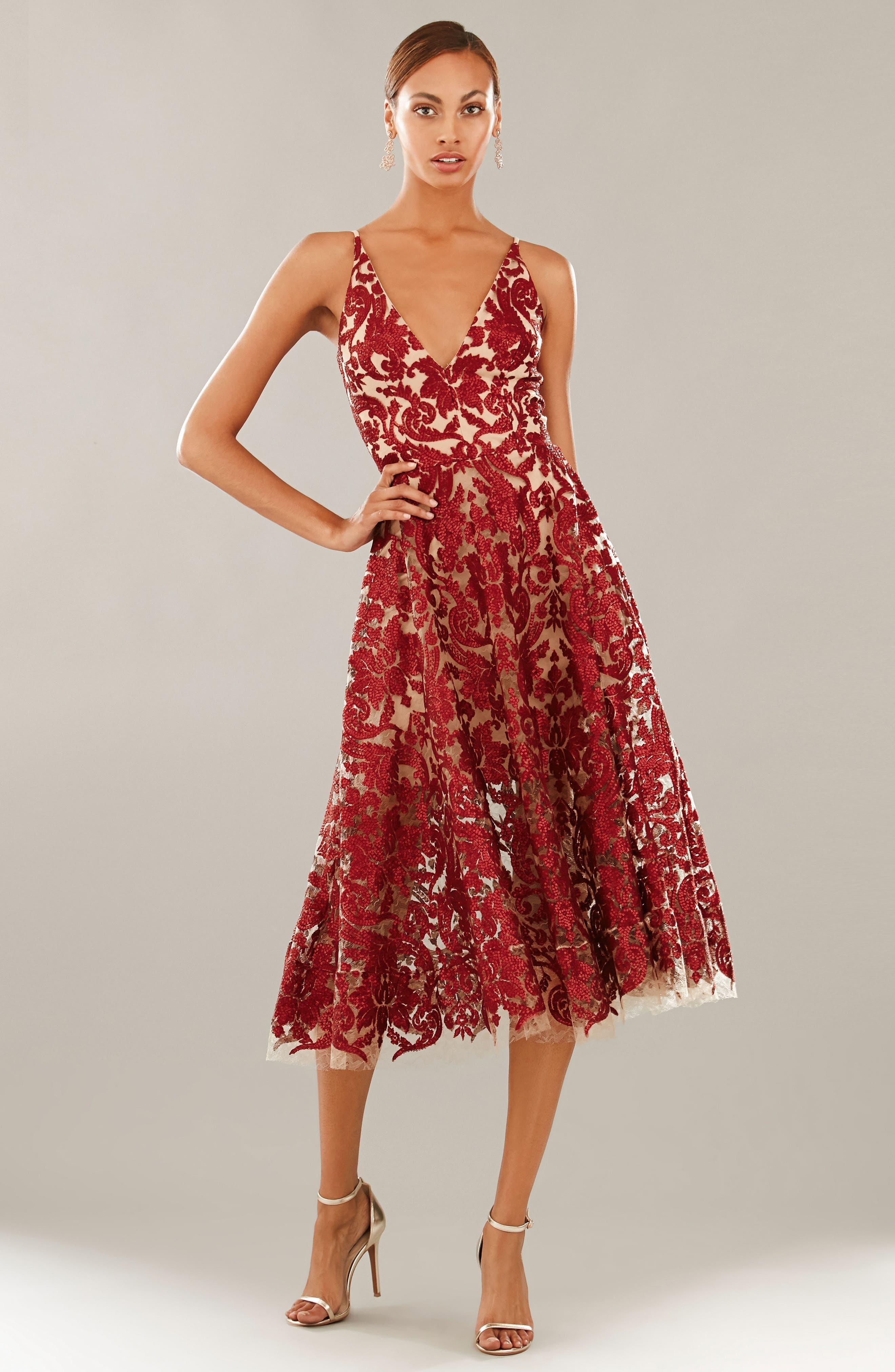Blair Embellished Fit & Flare Dress,                             Alternate thumbnail 34, color,