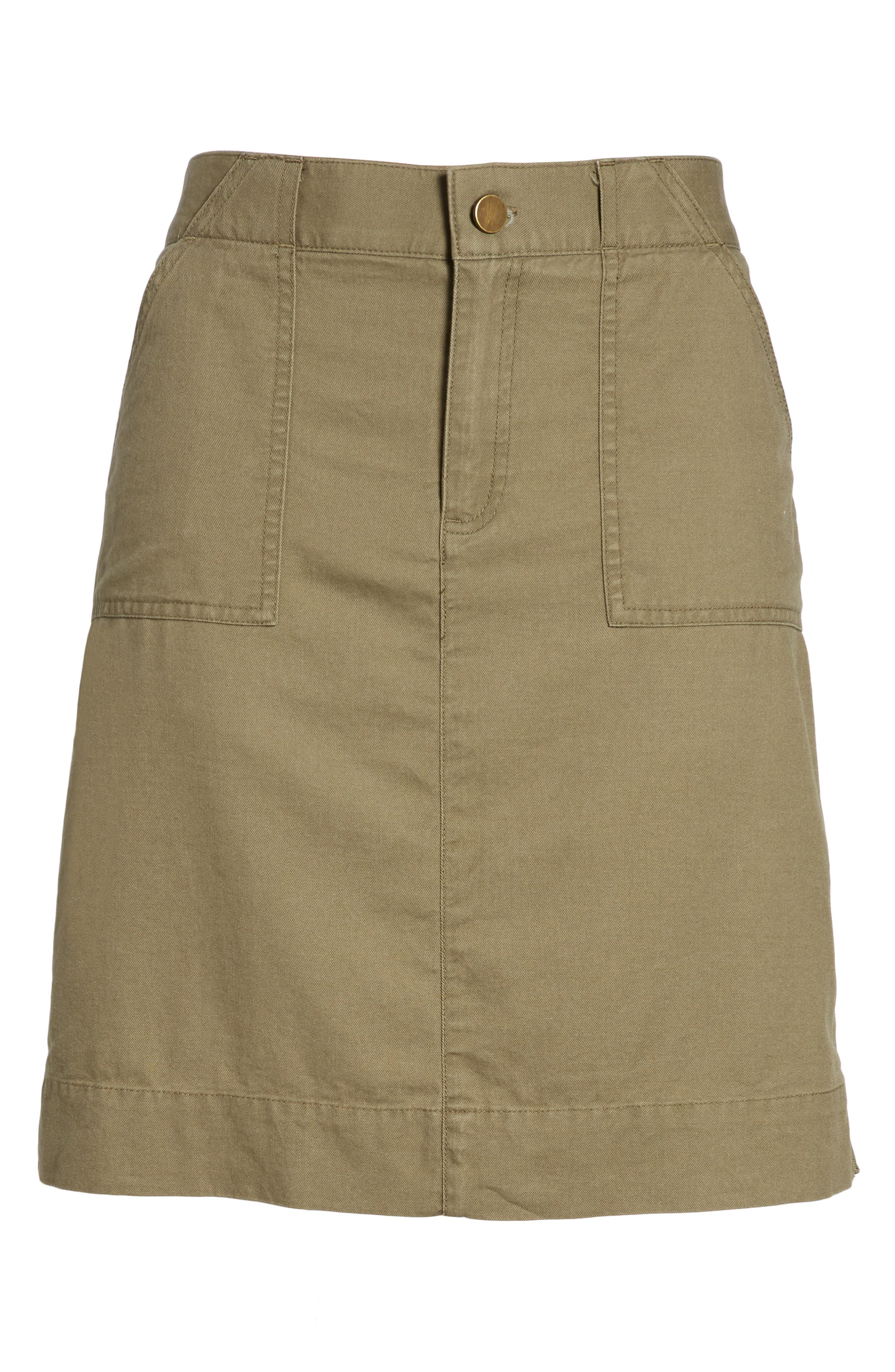 Twill Utility Skirt,                             Alternate thumbnail 11, color,