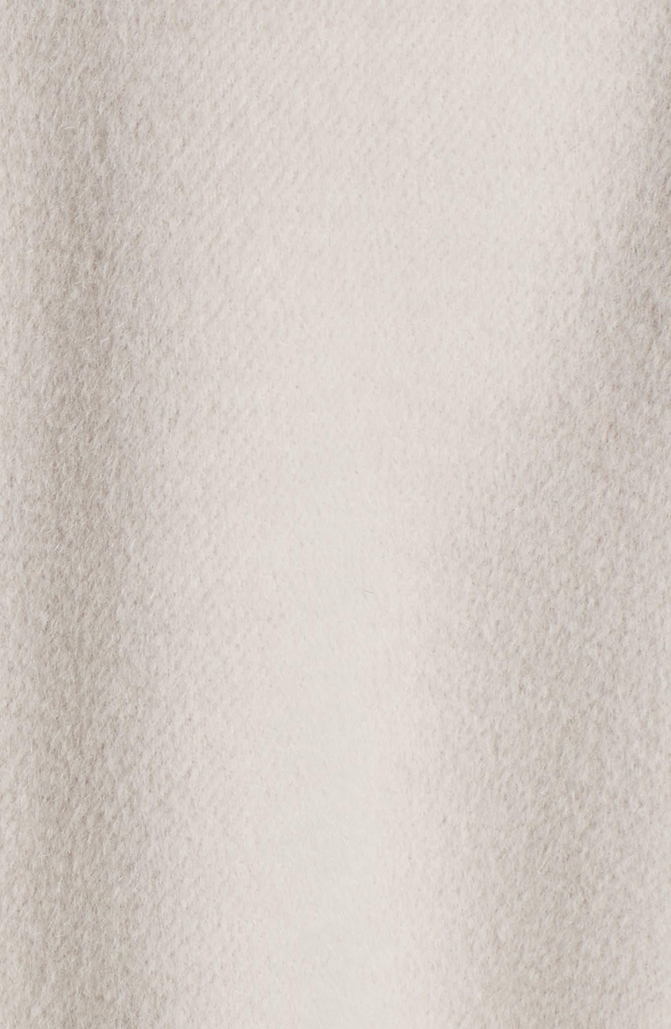 Reversible Double Face Wool & Angora Blend Topper,                             Alternate thumbnail 8, color,                             HAZELNUT MELANGE/ CREAM