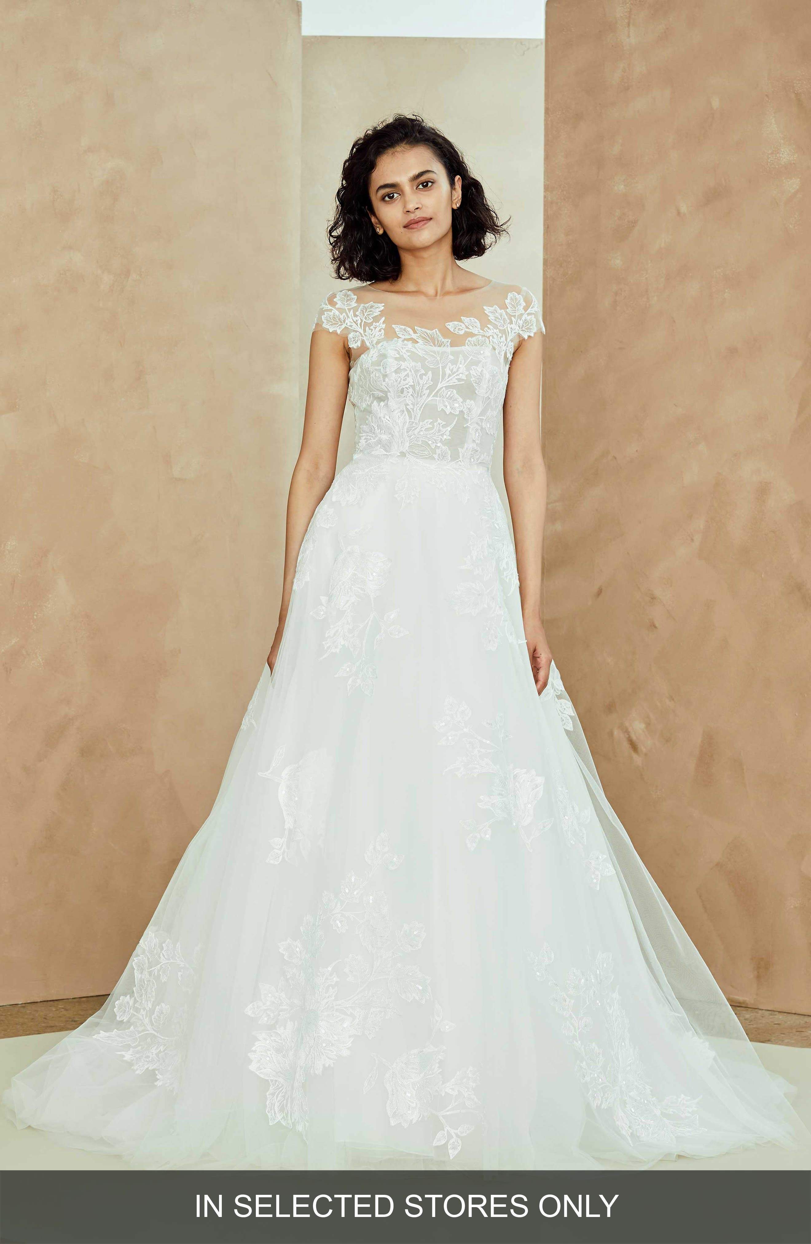Nouvelle Amsale Miranda Embellished Tulle Ballgown, Size IN STORE ONLY - White