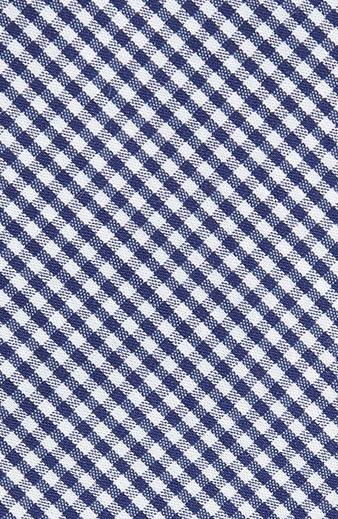 Sydney Check Cotton Skinny Tie,                             Alternate thumbnail 4, color,