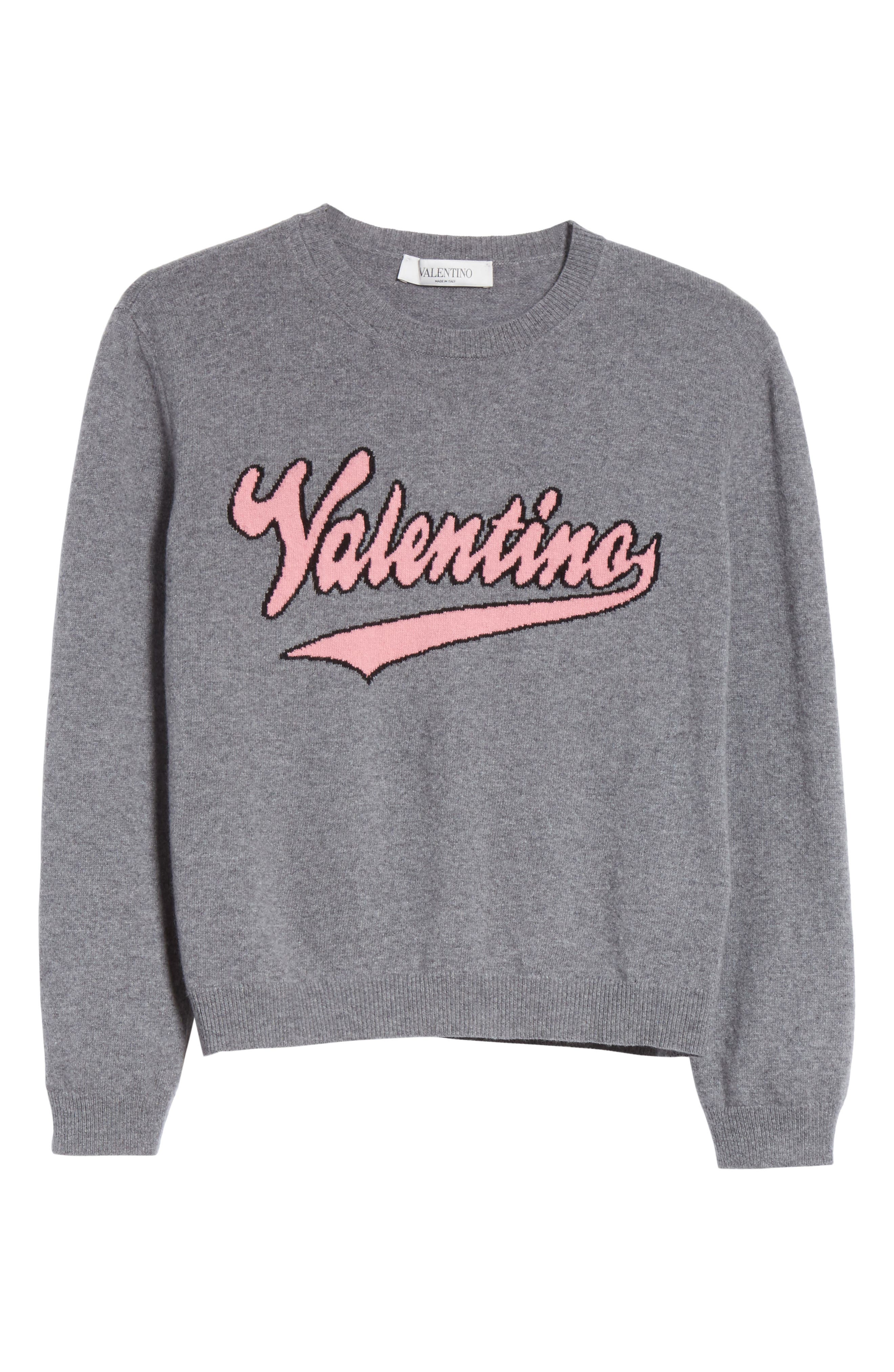 Wool & Cashmere Logo Sweater,                             Alternate thumbnail 6, color,                             030