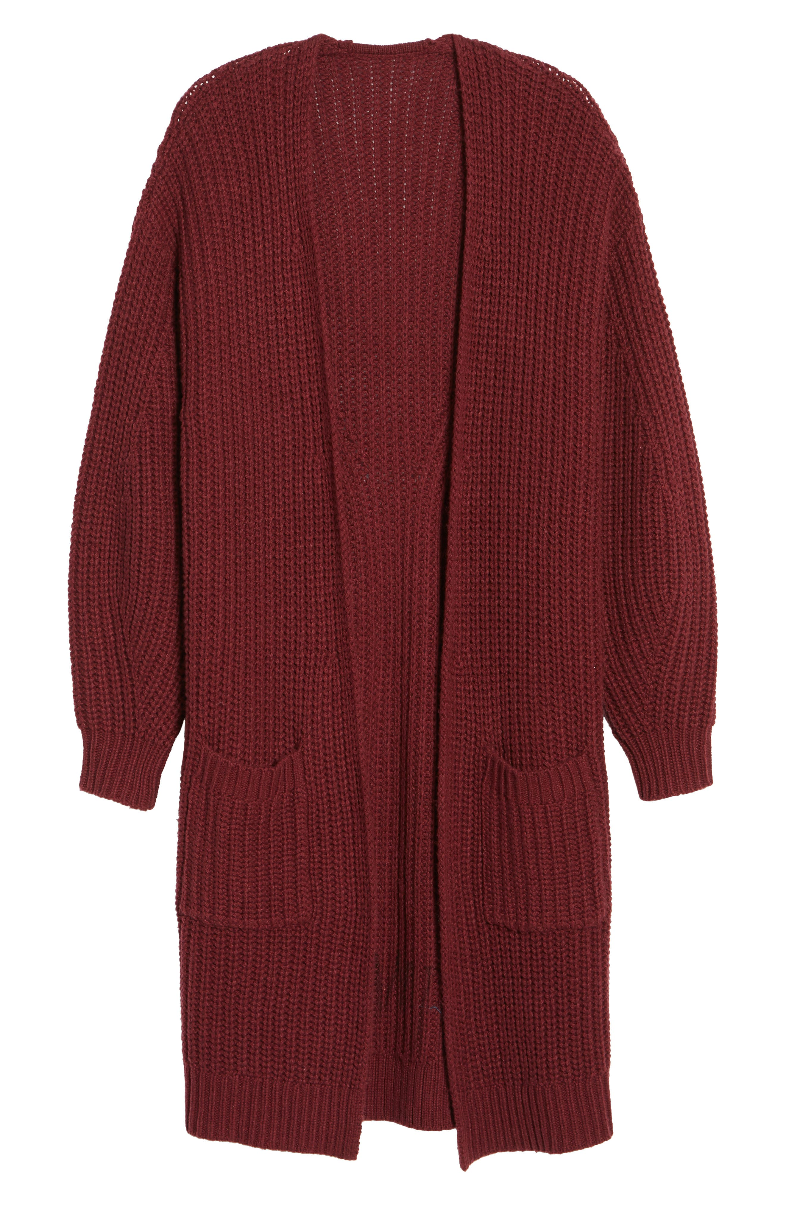 Shaped Sleeve Longline Cardigan,                             Alternate thumbnail 12, color,