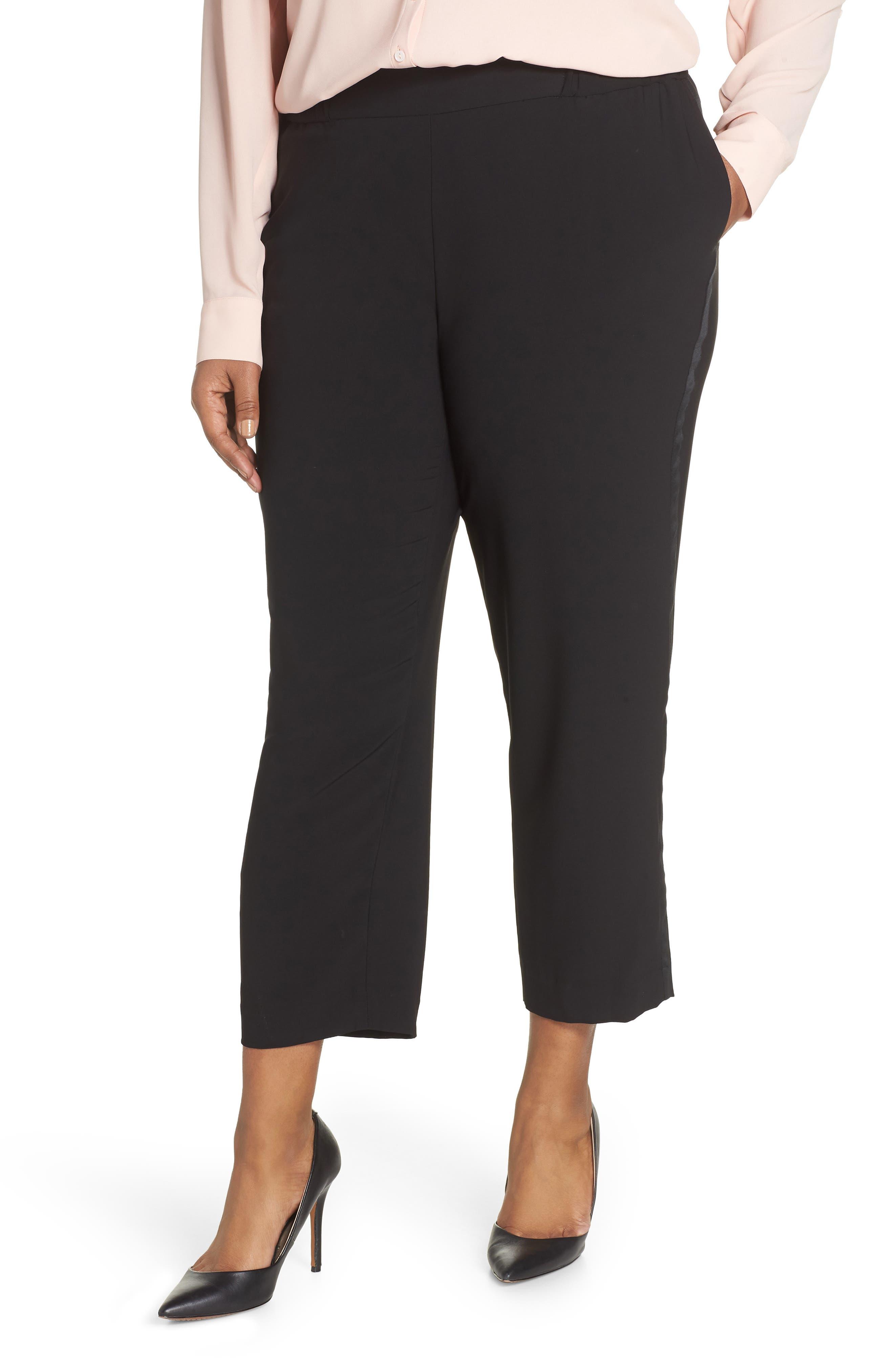 Side Seam Track Pants, Main, color, BLACK