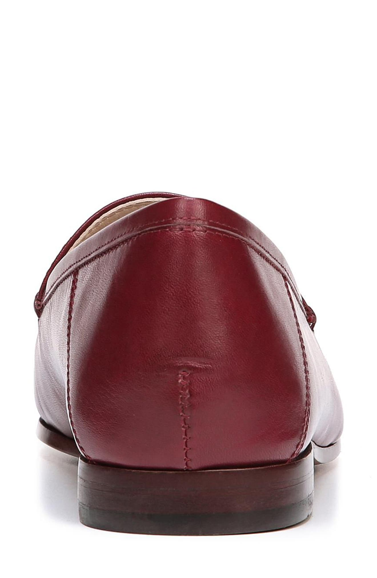 Lior Loafer,                             Alternate thumbnail 7, color,                             BEET RED LEATHER