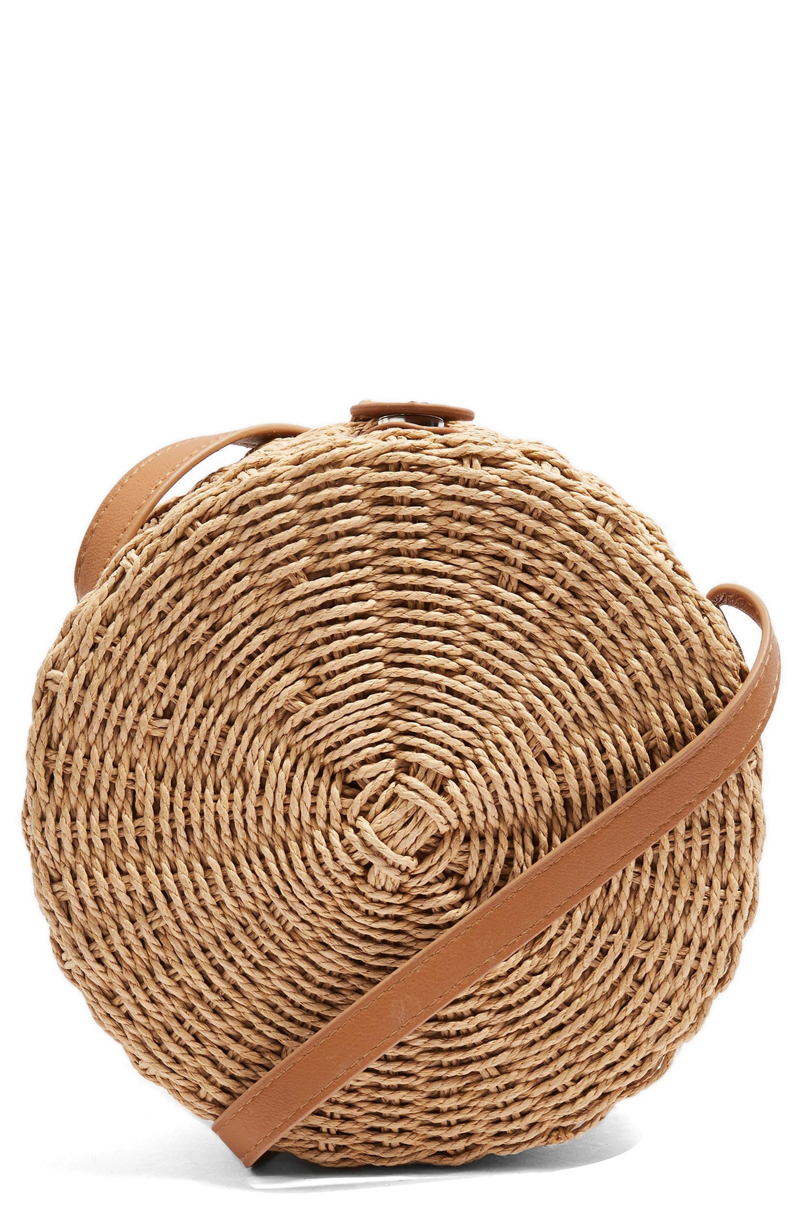 Barbar Straw Crossbody Bag,                             Main thumbnail 2, color,