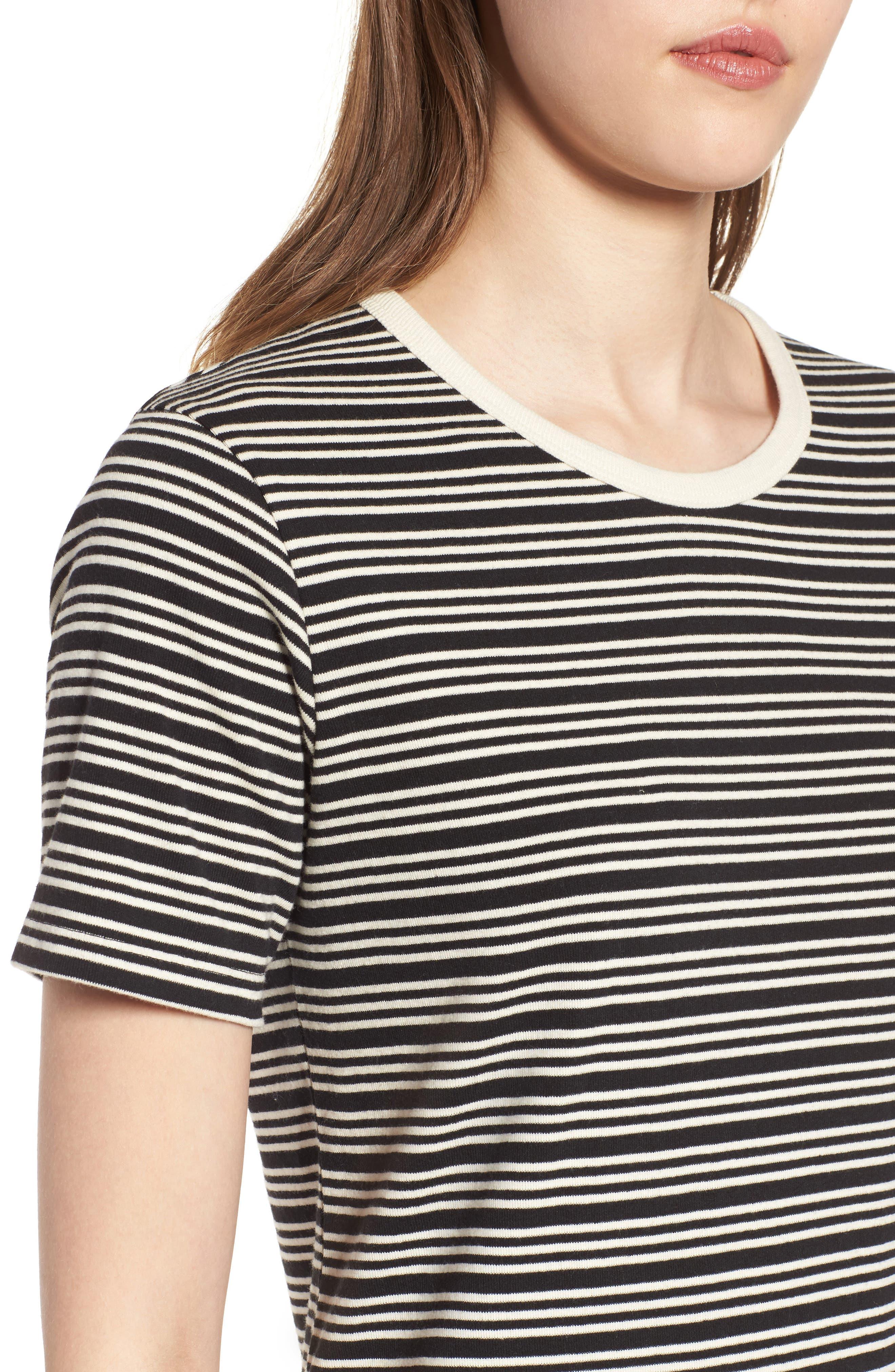 Freya Stripe T-Shirt Dress,                             Alternate thumbnail 4, color,