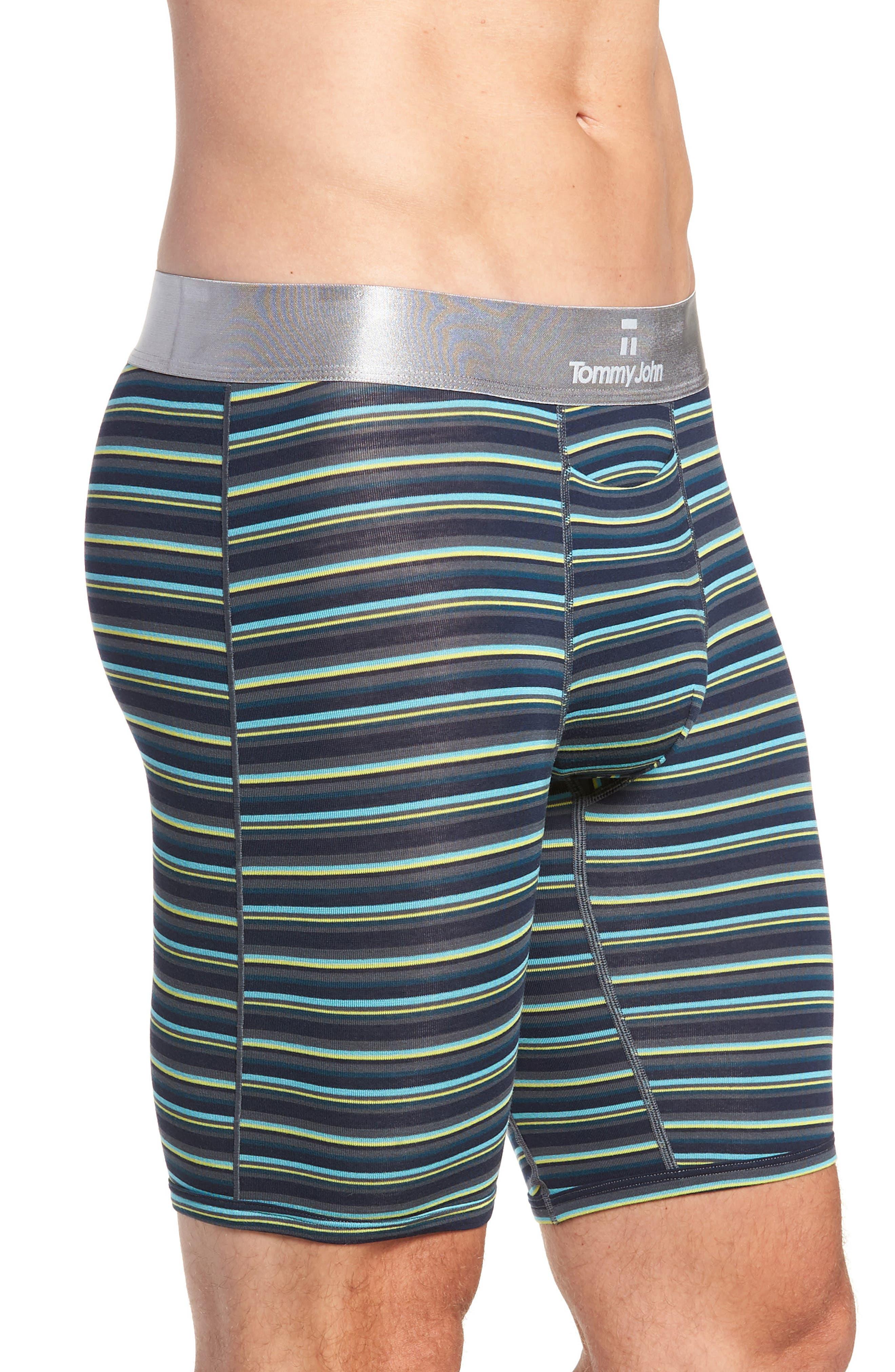 Second Skin Boxer Briefs,                             Alternate thumbnail 3, color,                             DRESS BLUES/ TURBULENCE