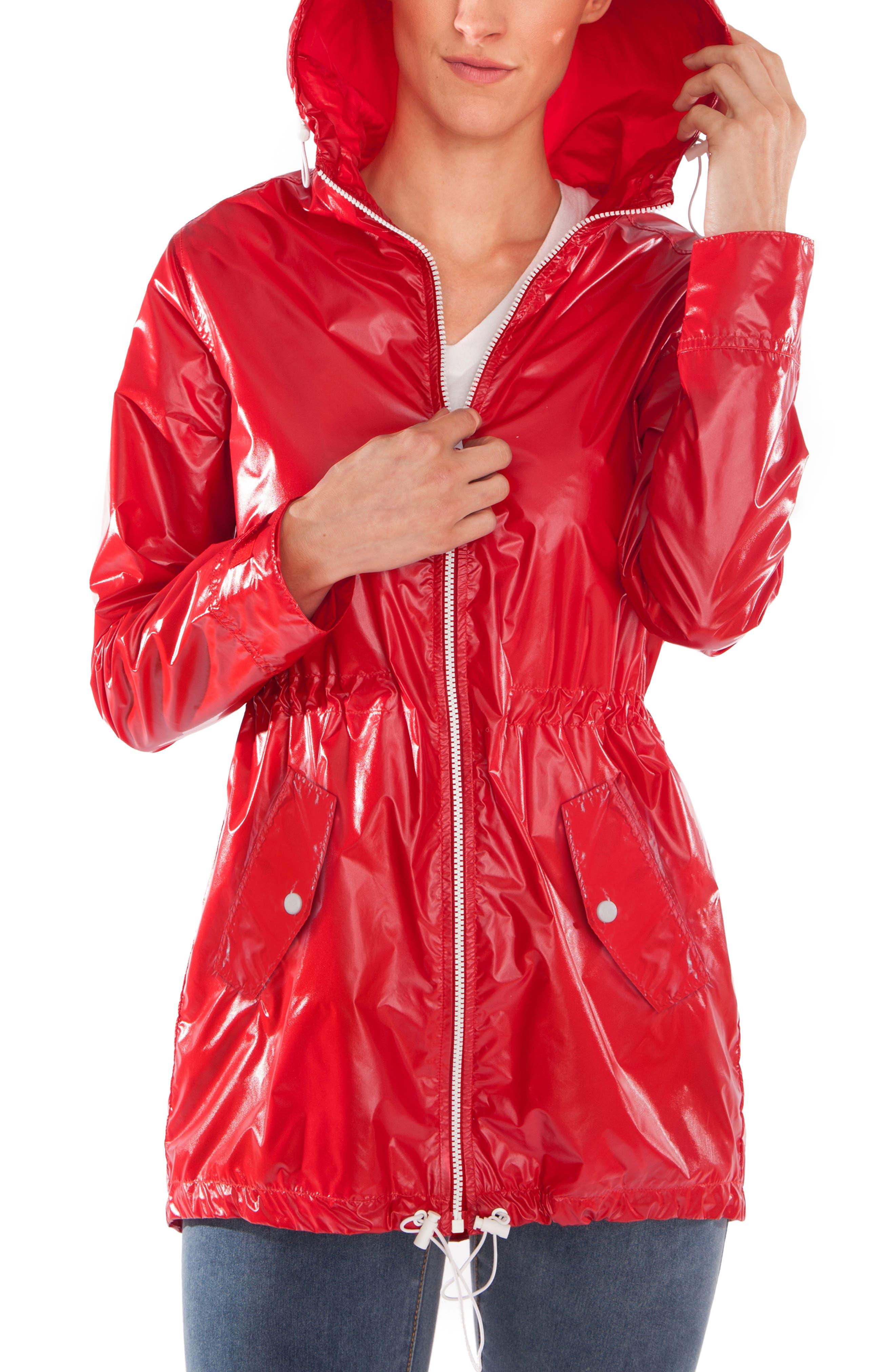 Waterproof Convertible 3-in-1 Maternity Raincoat,                             Alternate thumbnail 6, color,                             BRIGHT NAVY