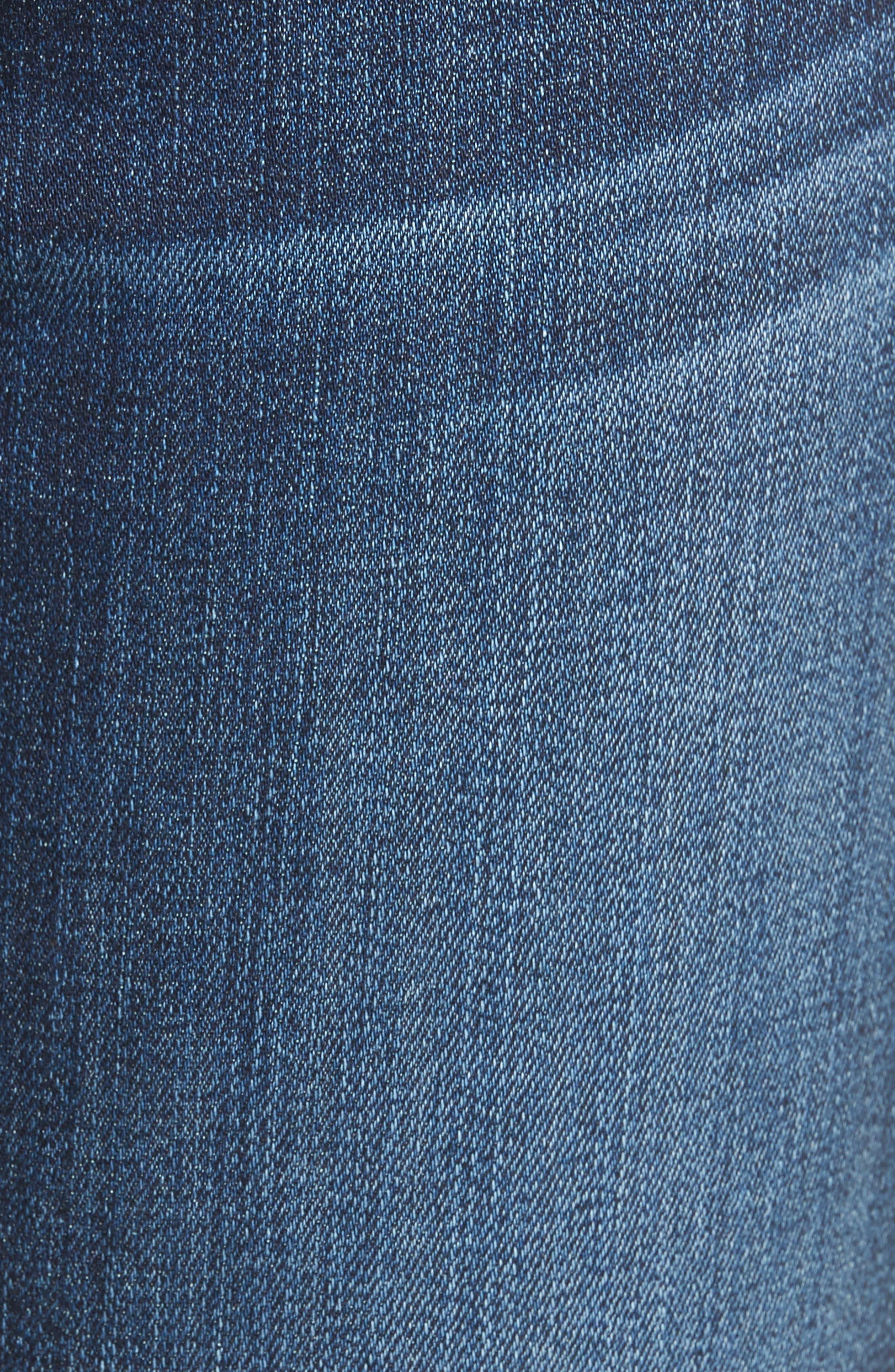 Seven7 Roxanne High Waist Ankle Jeans,                             Alternate thumbnail 5, color,                             401