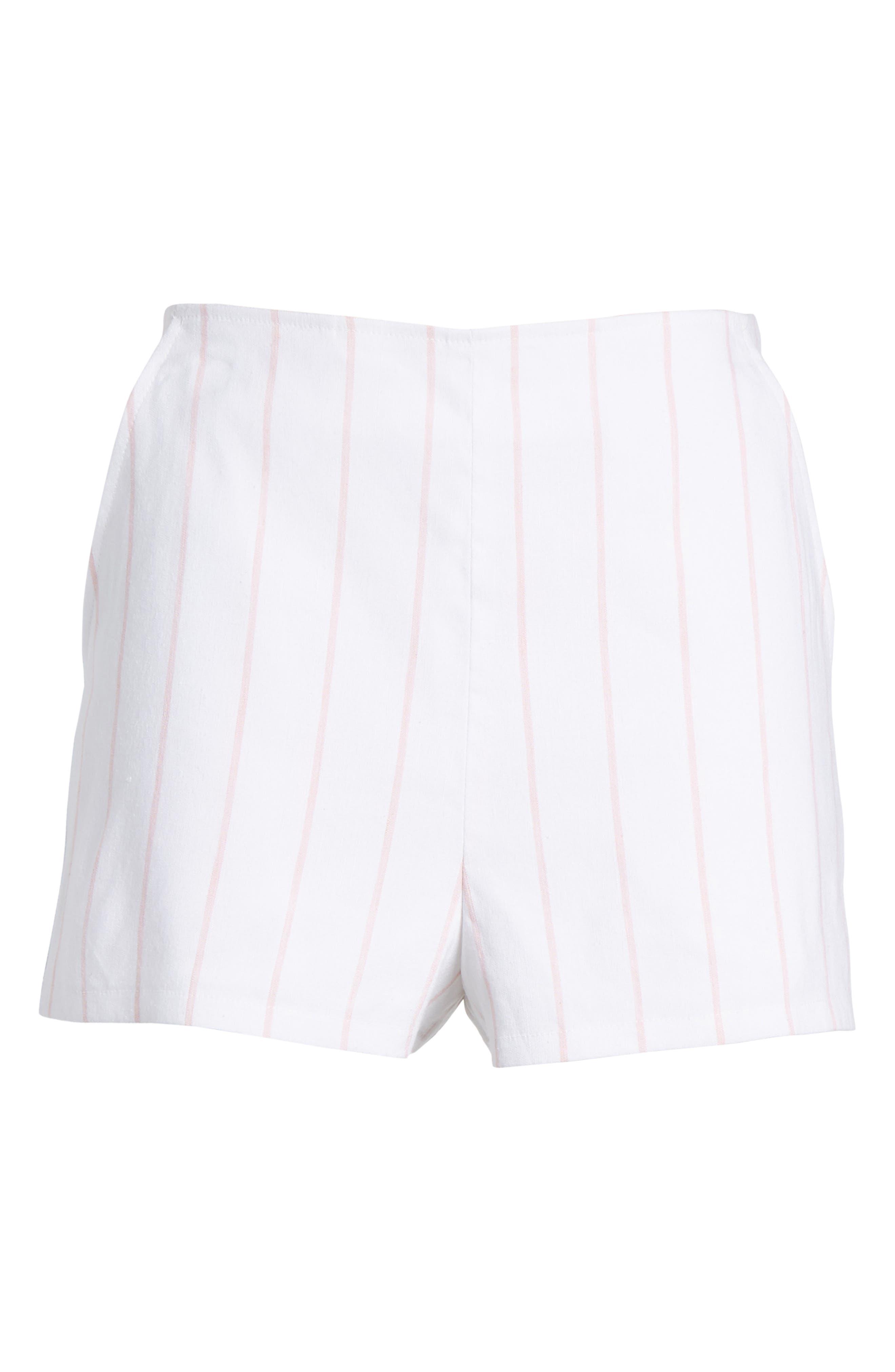 High Waist Linen Blend Shorts,                             Alternate thumbnail 27, color,