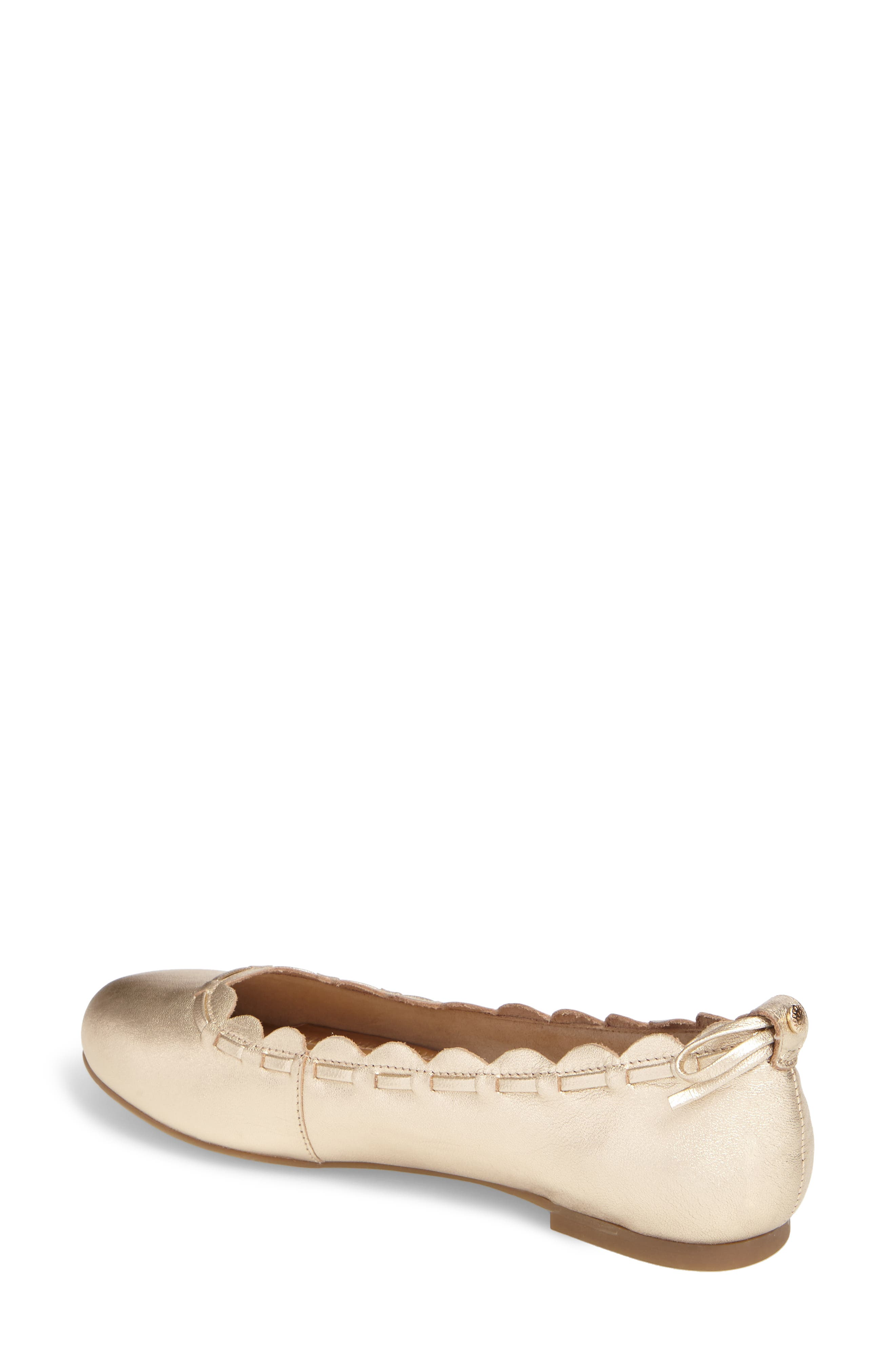 Lucie Scalloped Flat,                             Alternate thumbnail 2, color,                             040