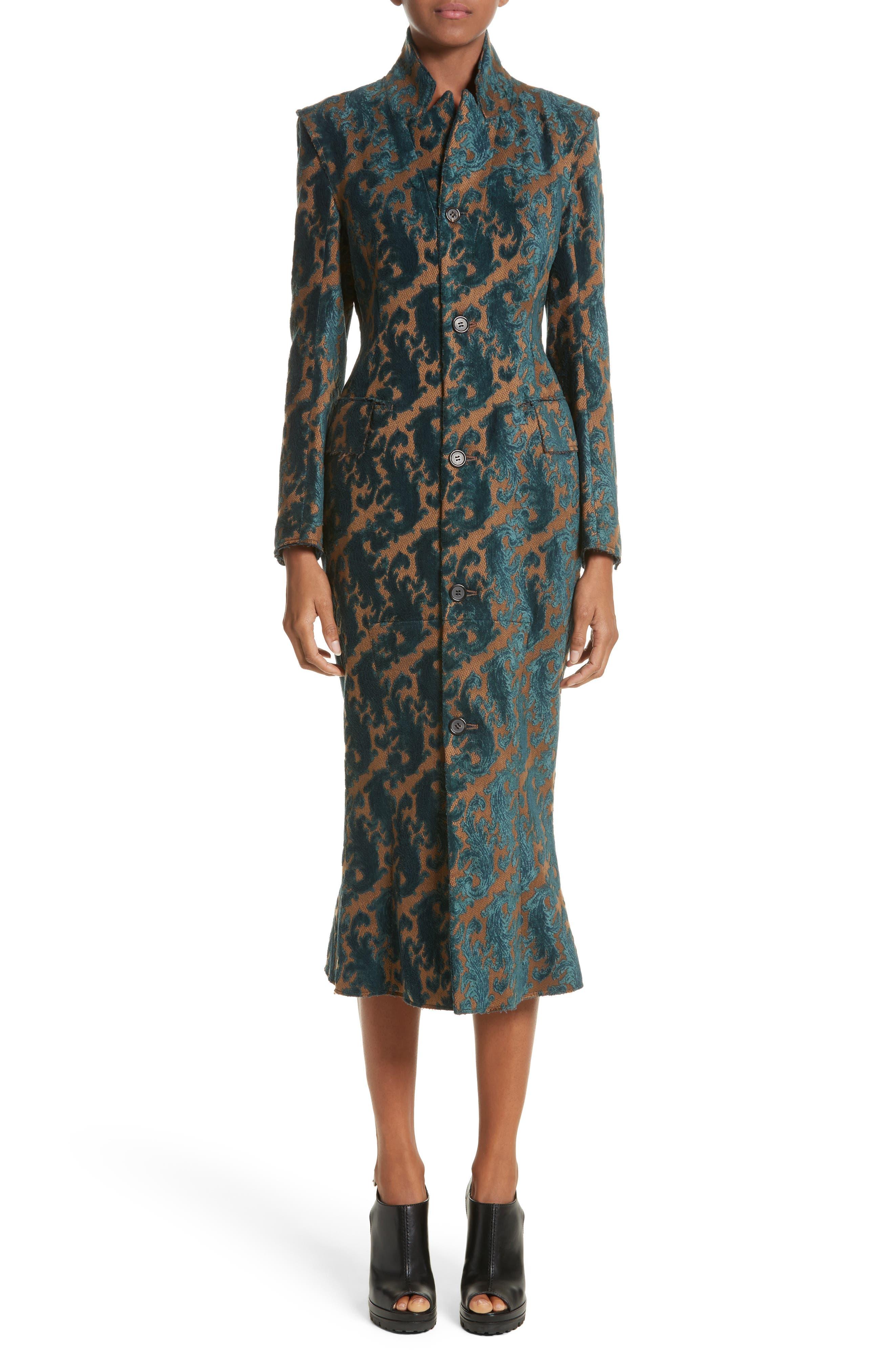 Detachable Sleeve Coat Dress,                         Main,                         color, 960
