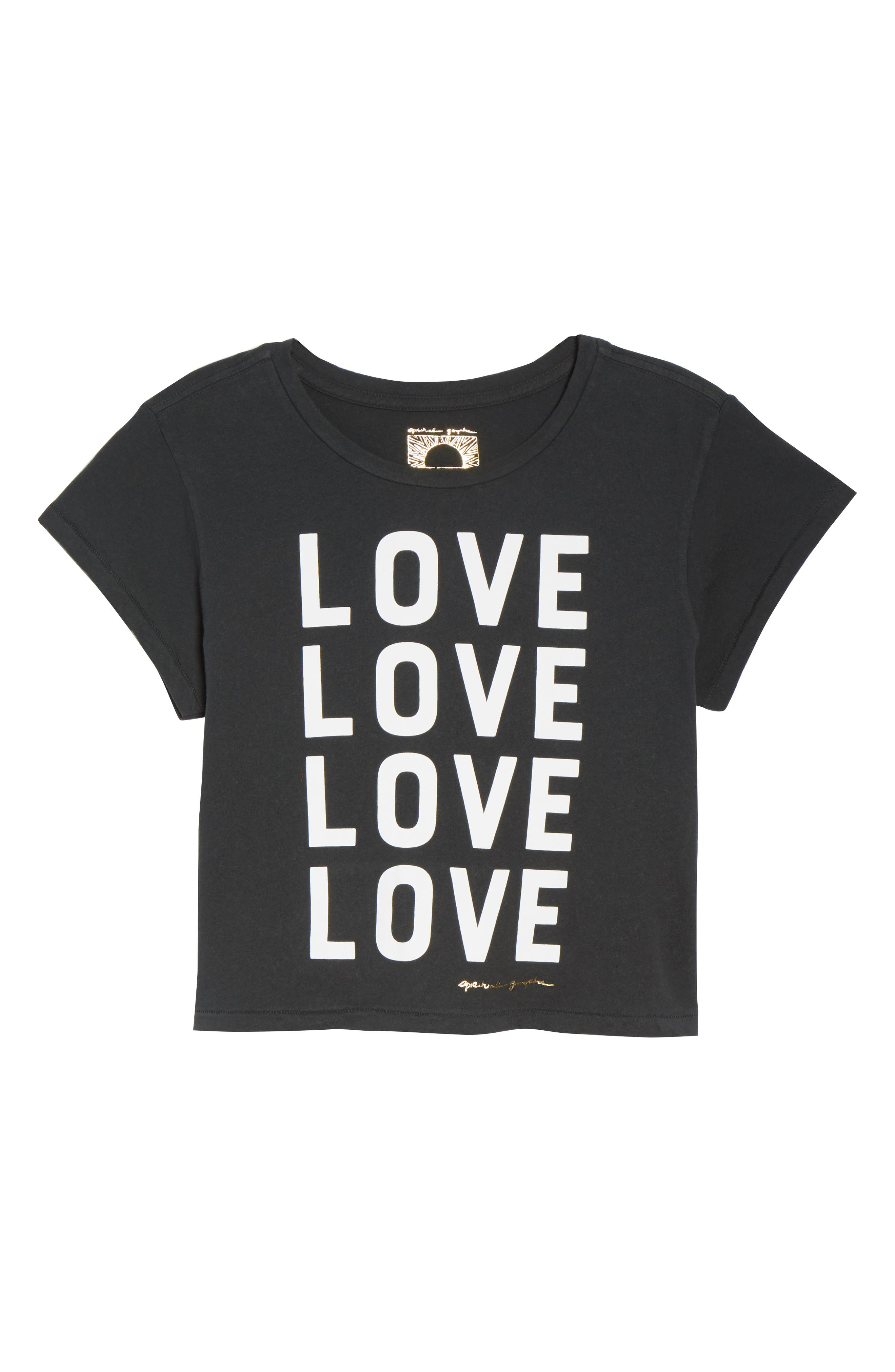 Love Vintage Crop Tee,                             Alternate thumbnail 7, color,                             VINTAGE BLACK