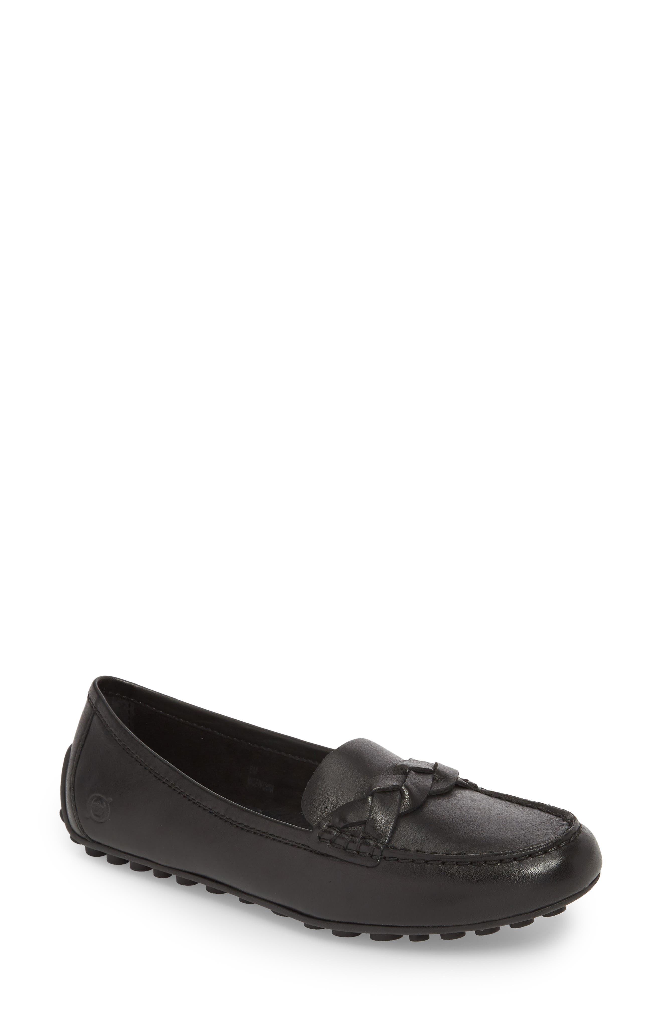 Kasa Loafer,                         Main,                         color, BLACK LEATHER