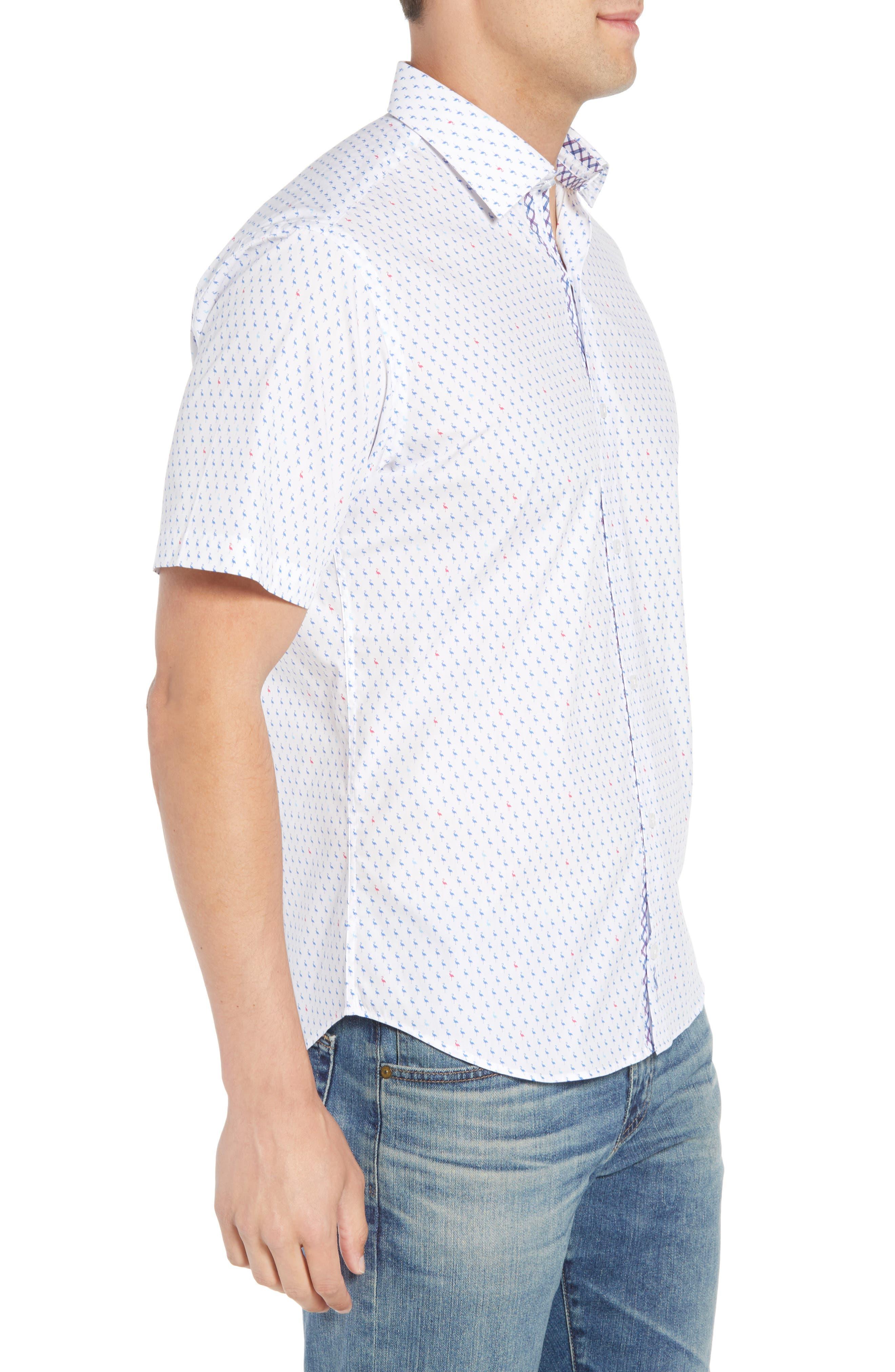 Arrie Regular Fit Print Sport Shirt,                             Alternate thumbnail 3, color,                             490