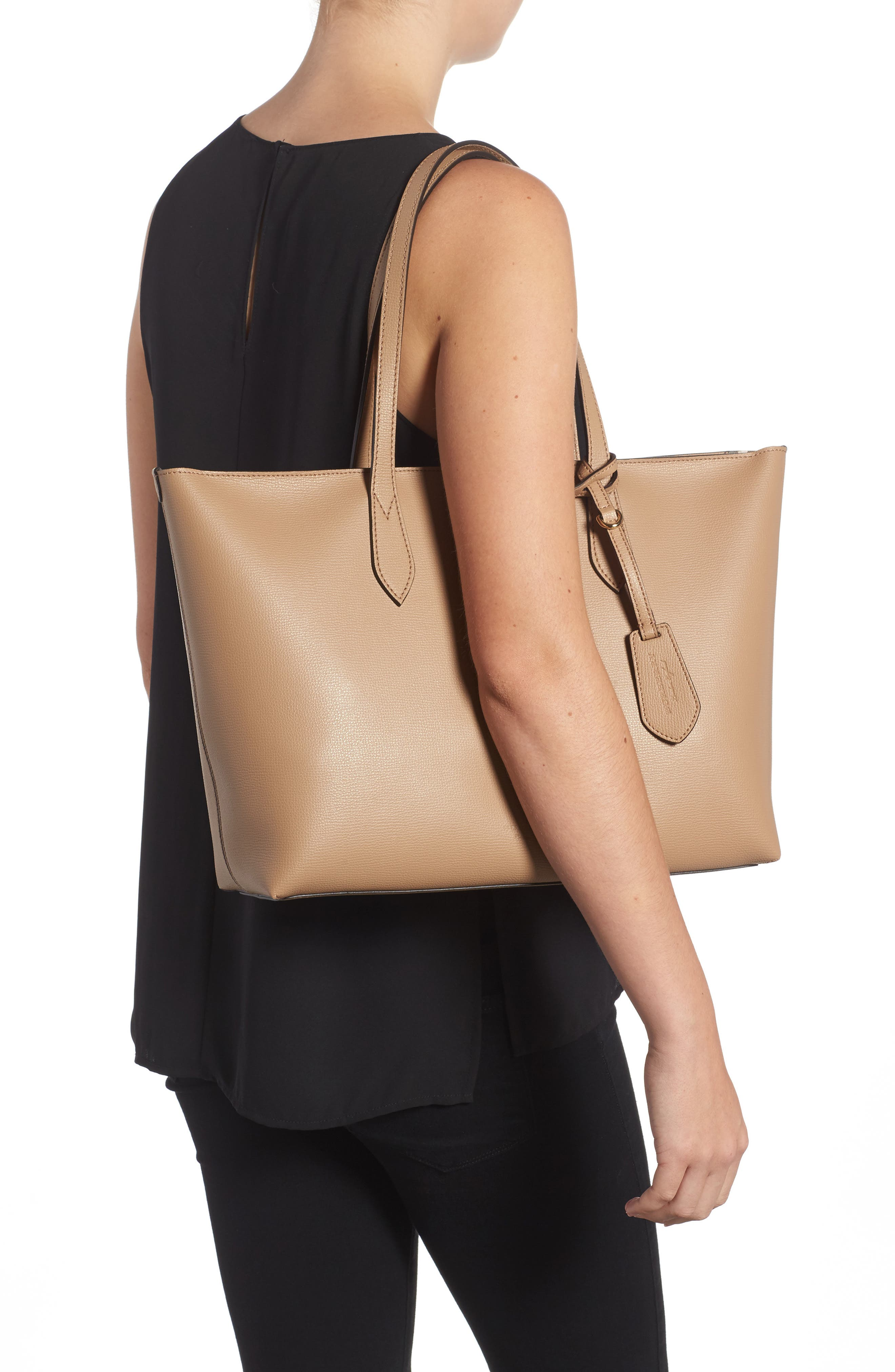 Calfskin Leather Tote,                             Alternate thumbnail 2, color,                             267