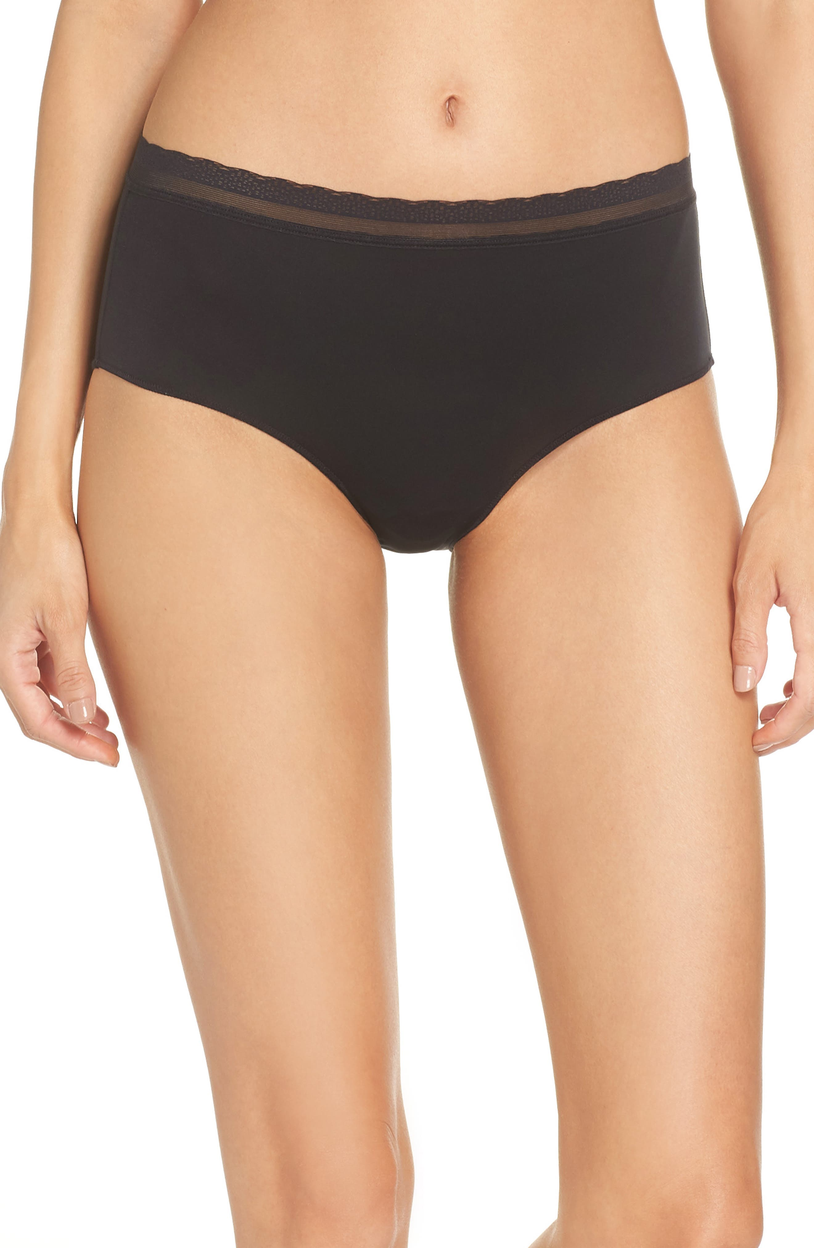 Next to Nothing Hipster Briefs,                         Main,                         color, BLACK