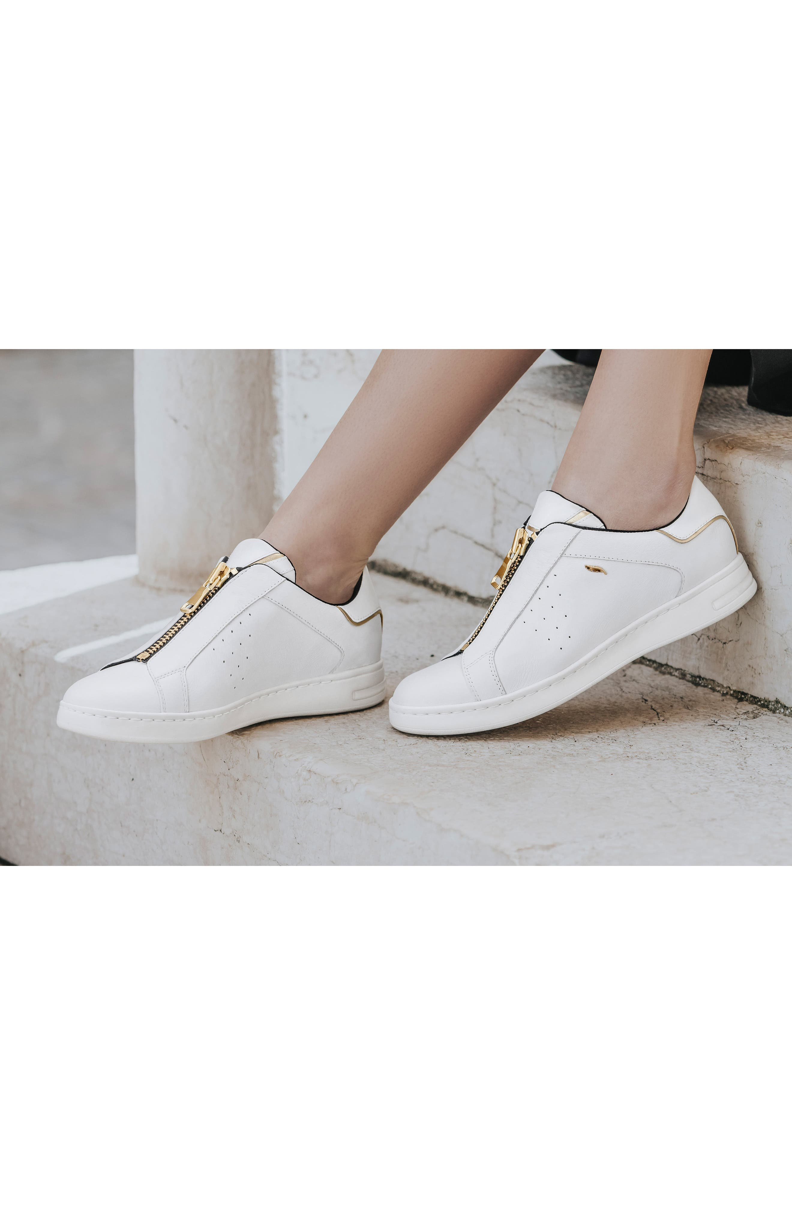 Jaysen Sneaker,                             Alternate thumbnail 8, color,                             WHITE LEATHER