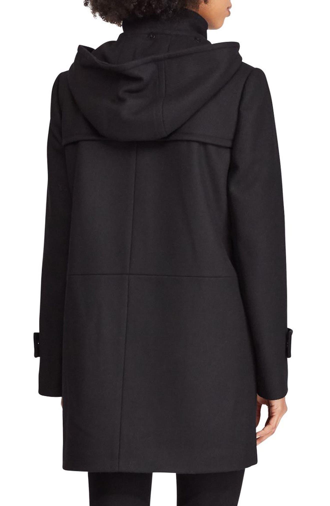 LAUREN RALPH LAUREN,                             Wool Blend Jacket,                             Alternate thumbnail 2, color,                             BLACK