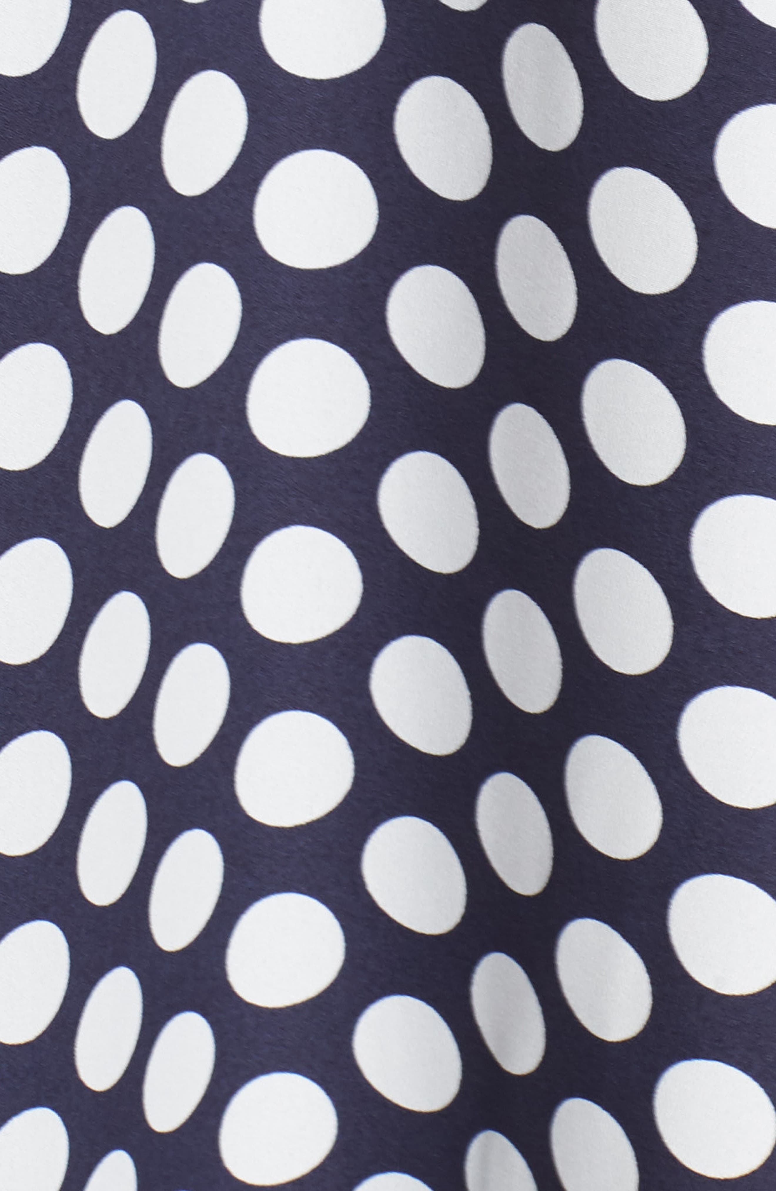Strapless Dot Tie Front Maxi Dress,                             Alternate thumbnail 6, color,                             400