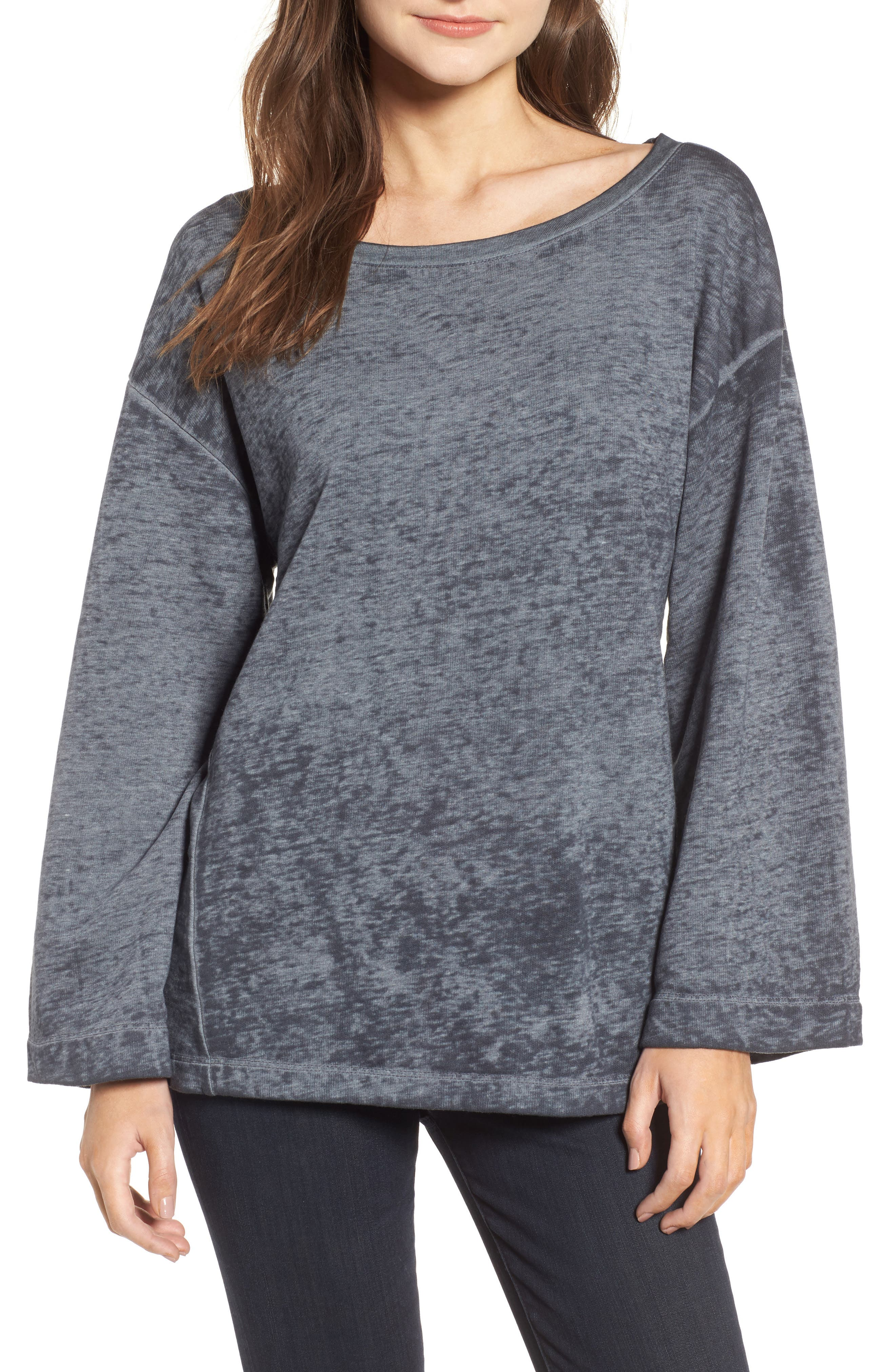Bell Sleeve Sweatshirt,                         Main,                         color, 020