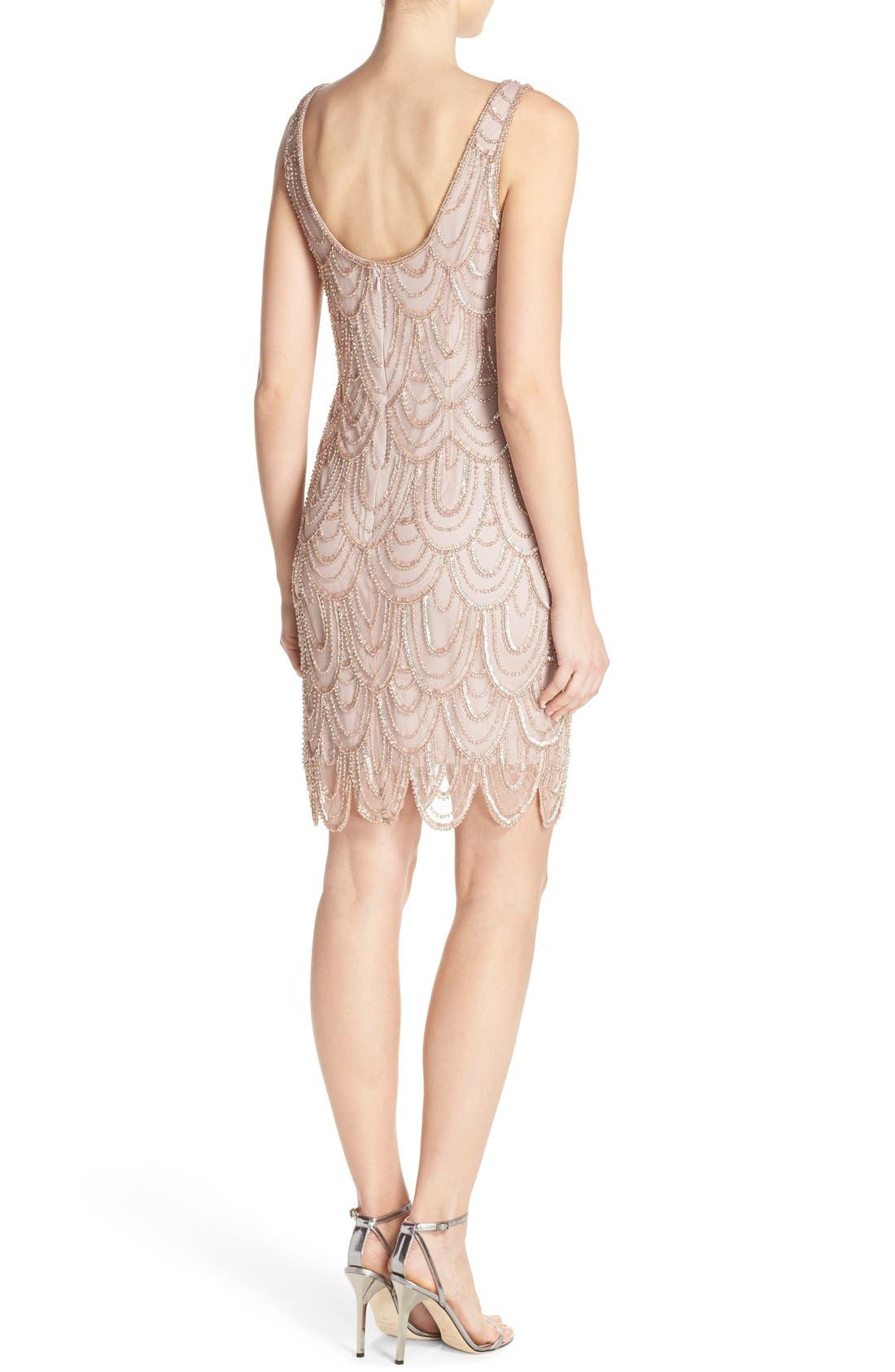 Embellished Mesh Sheath Dress,                             Alternate thumbnail 35, color,