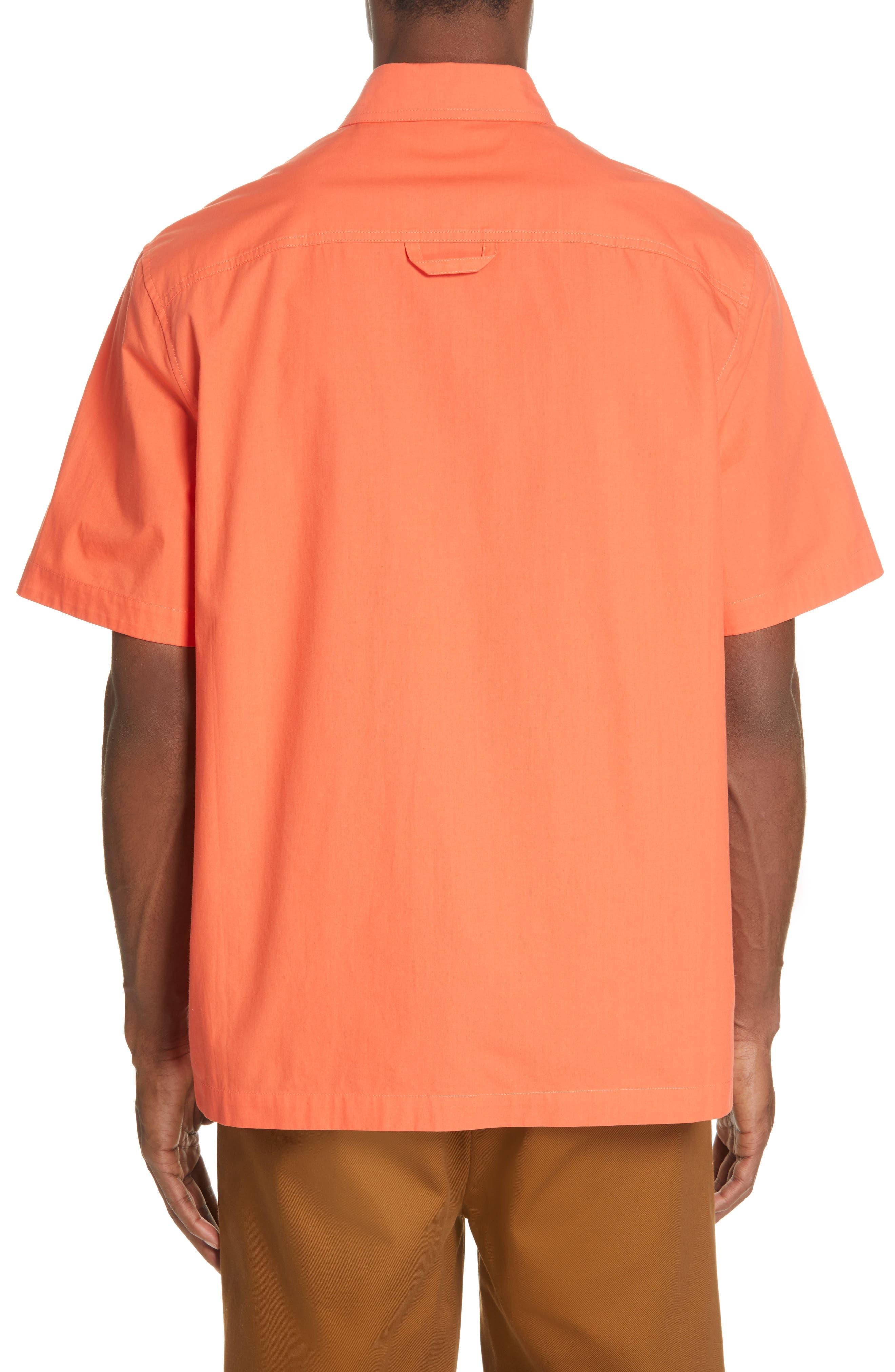 Woven Shirt,                             Alternate thumbnail 3, color,                             ORANGE