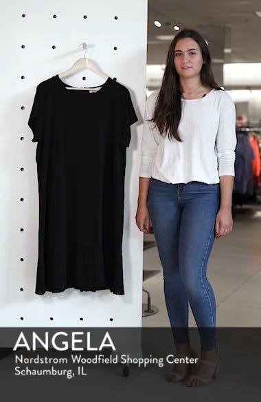 Pleat Chiffon Hem Jersey Dress, sales video thumbnail