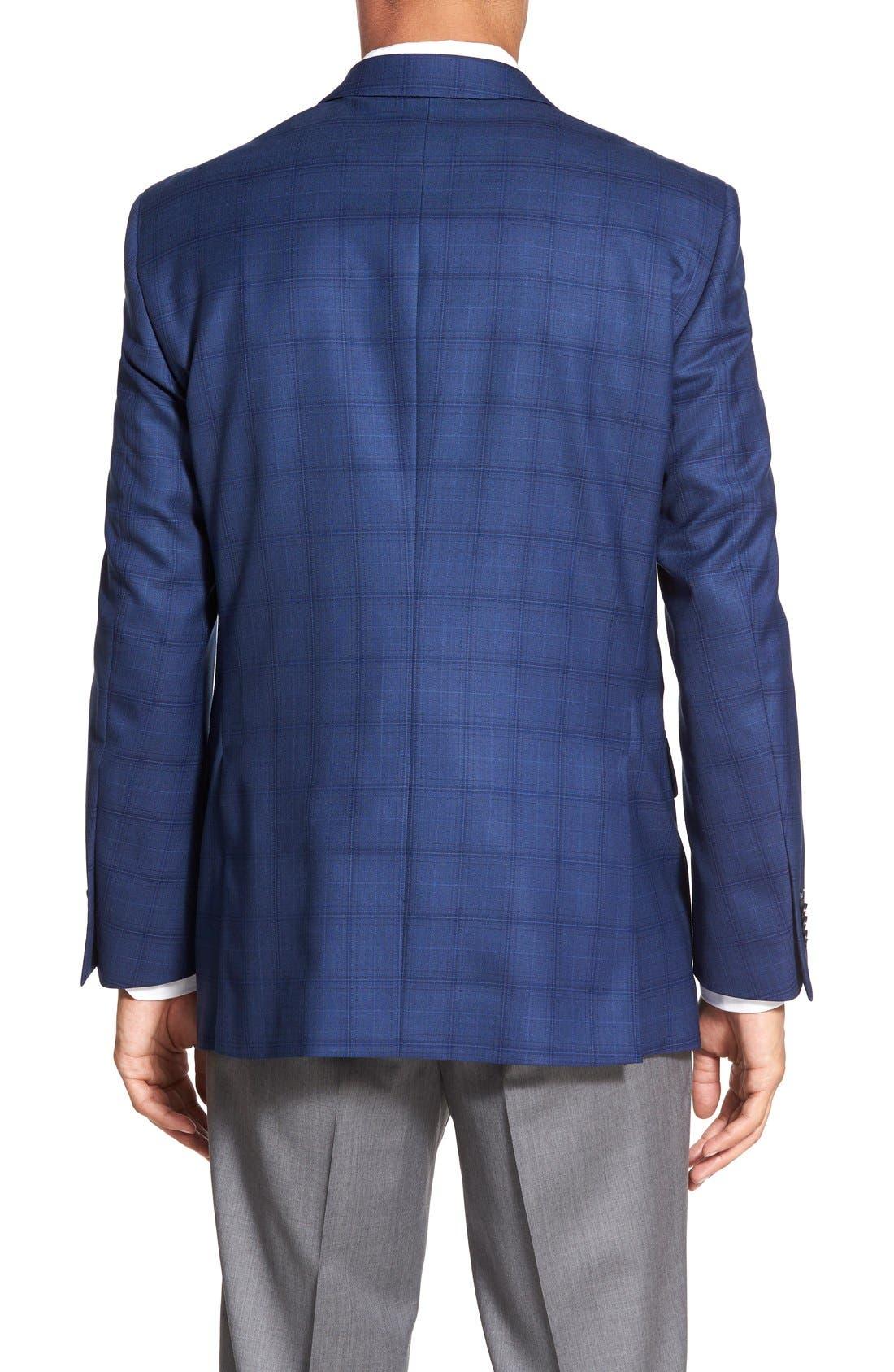 'Flynn' Classic Fit Plaid Wool Sport Coat,                             Alternate thumbnail 2, color,                             400
