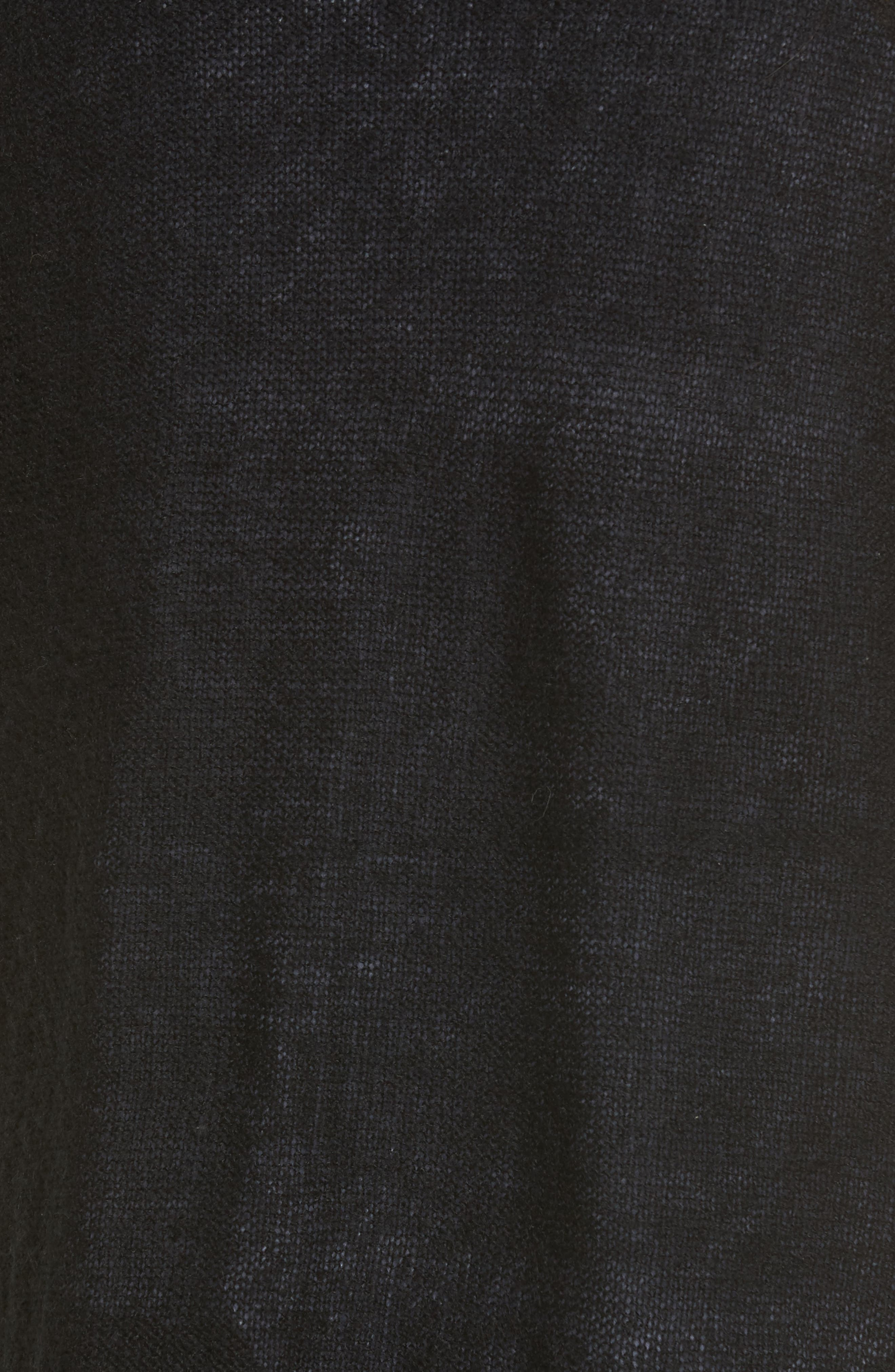 Tissue Knit Longline Cardigan,                             Alternate thumbnail 5, color,                             001