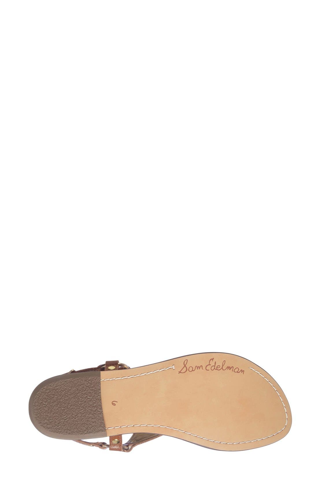 Greta Sandal,                             Alternate thumbnail 4, color,                             SOFT SADDLE LEATHER