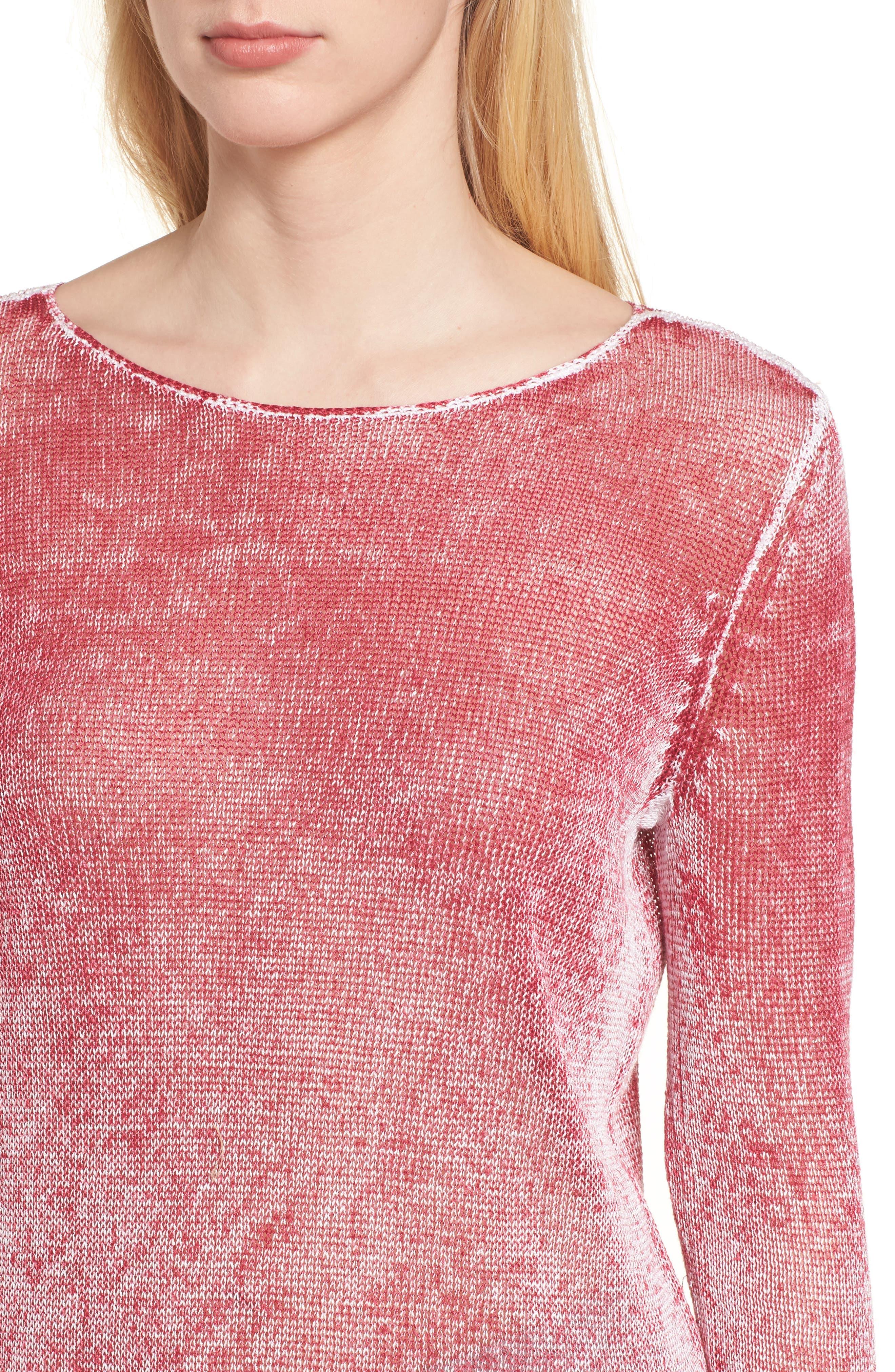 NIC + ZOE Poolside Linen Blend Sweater,                             Alternate thumbnail 15, color,
