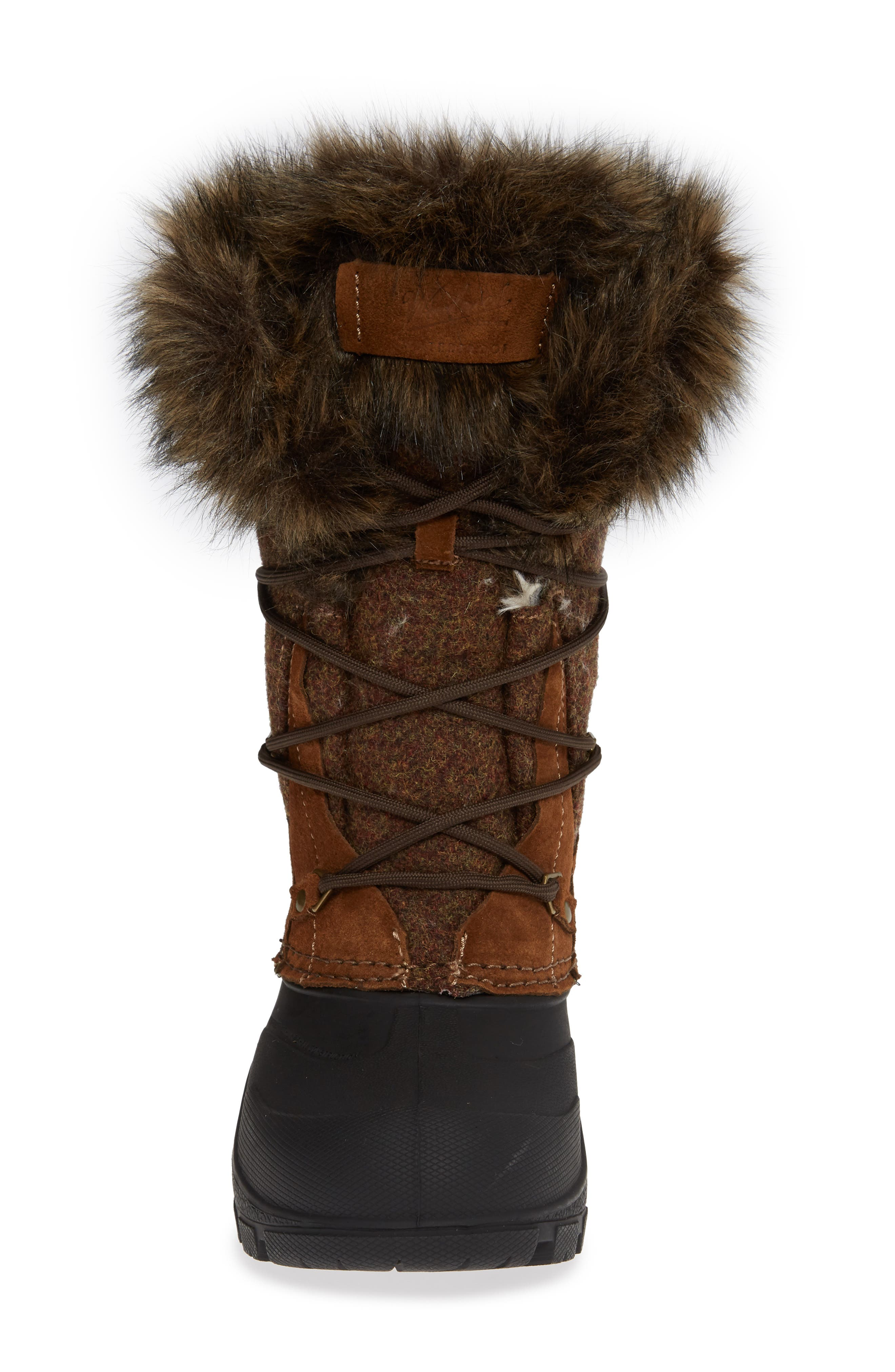 Ice Cougar Waterproof Knee High Winter Boot with Faux Fur Trim,                             Alternate thumbnail 4, color,                             DACHSHUND WOOL