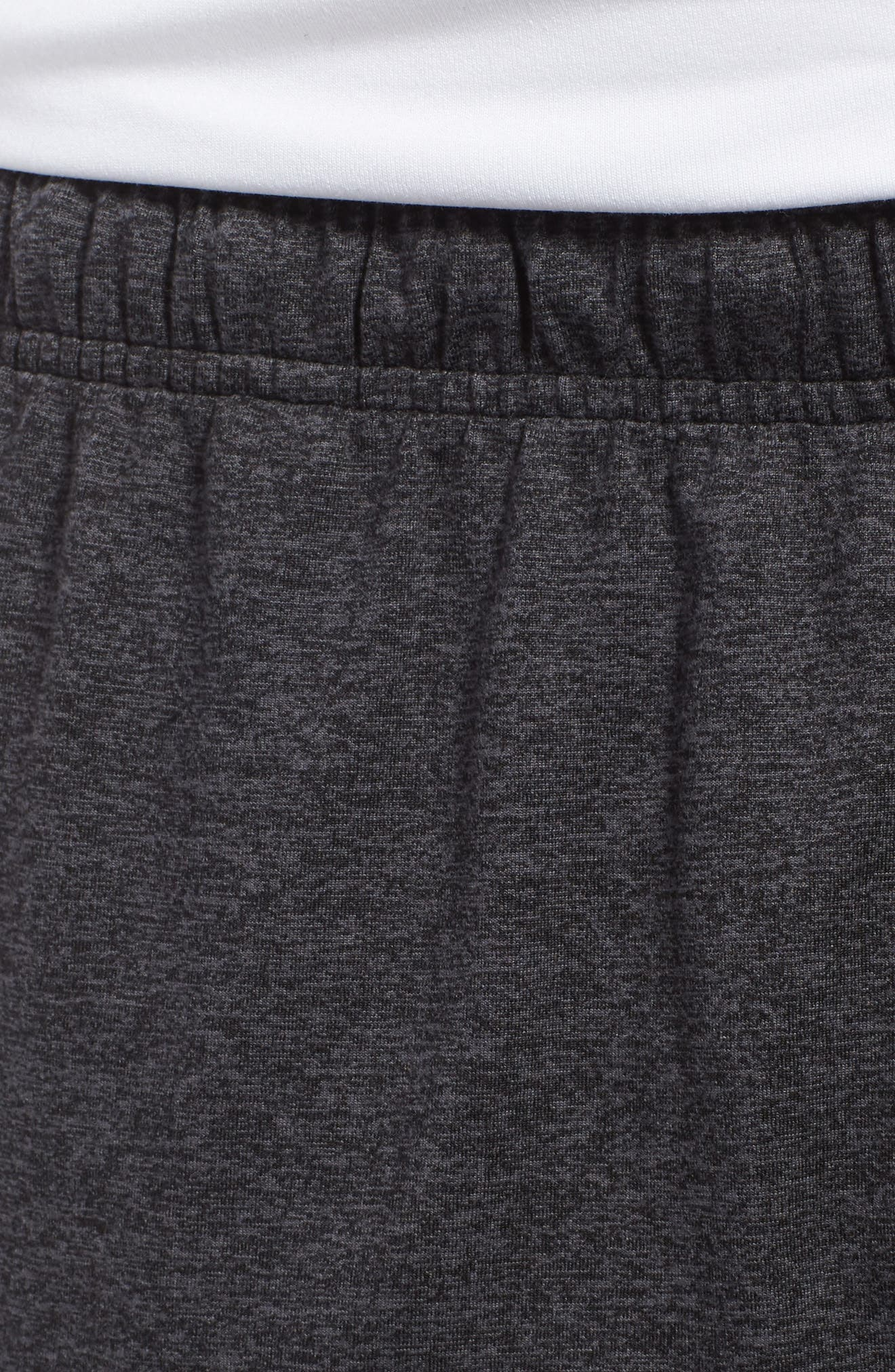 'Go To' Moisture Wicking Stretch Shorts,                             Alternate thumbnail 4, color,                             HEATHER CHARCOAL/ BLACK