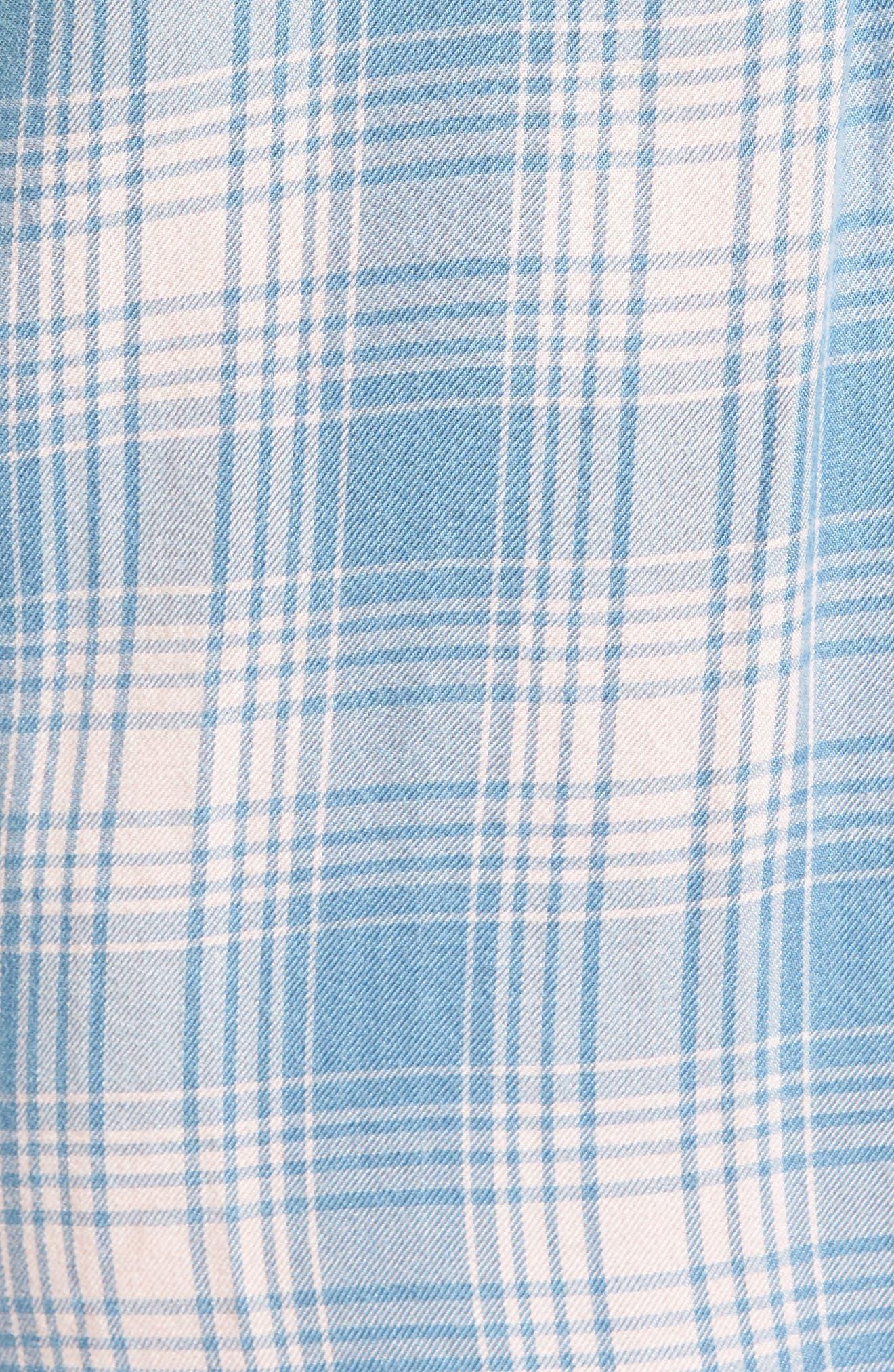 Cold Shoulder Plaid Shirtdress,                             Alternate thumbnail 5, color,