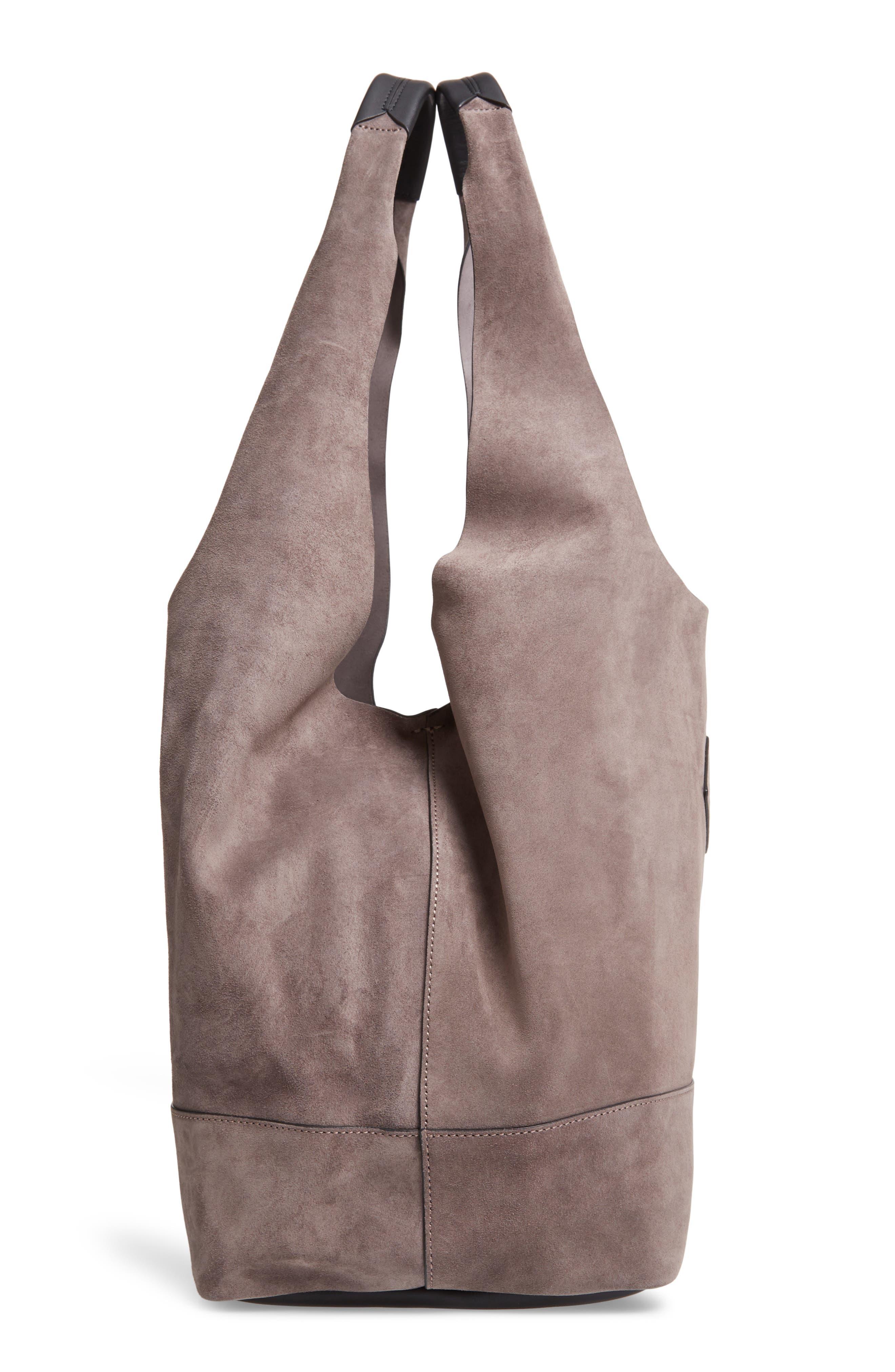 Camden Shopper Bag,                             Alternate thumbnail 5, color,                             ELEPHANT SUEDE
