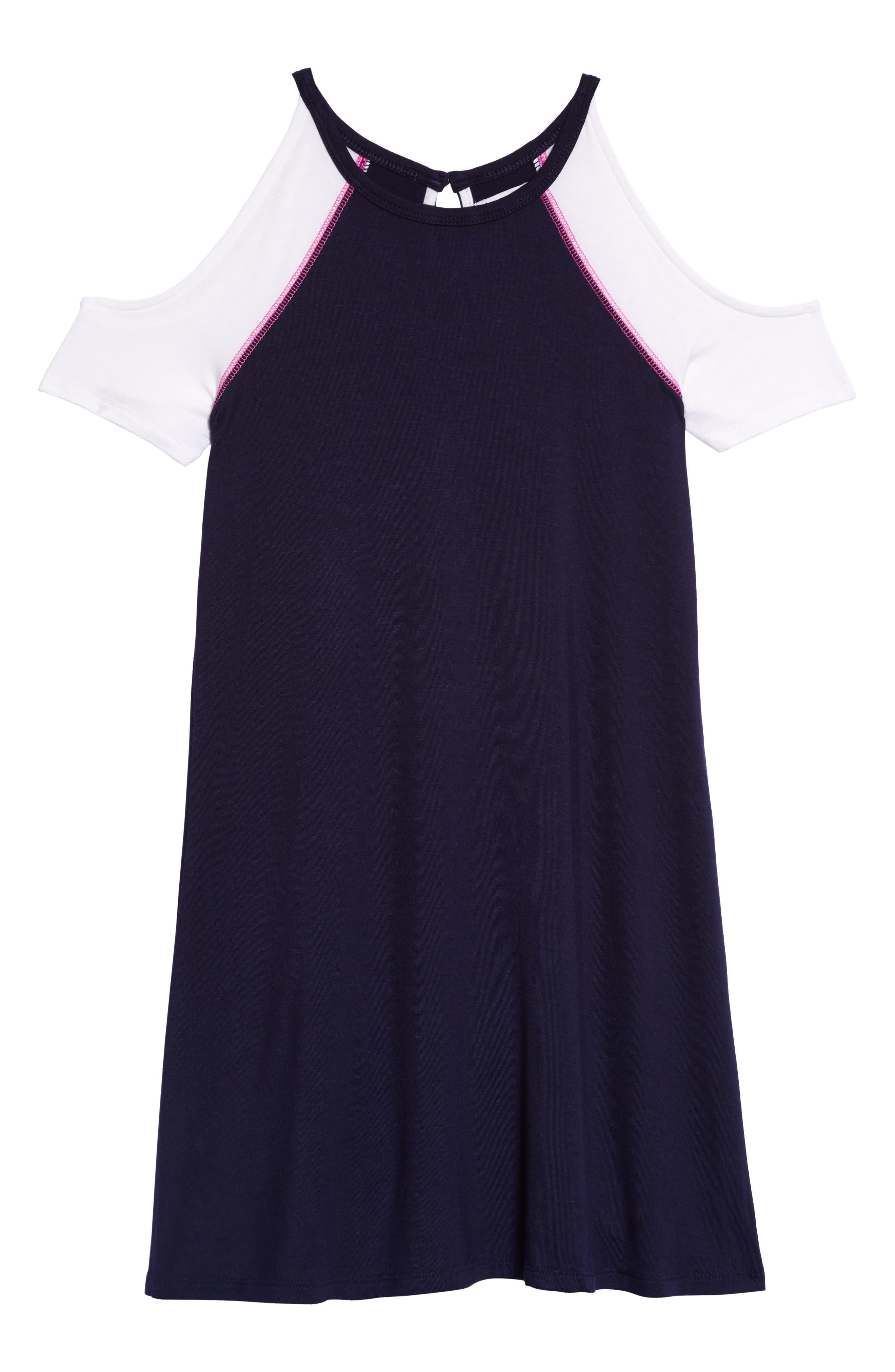Cold Shoulder Dress,                             Main thumbnail 1, color,                             410